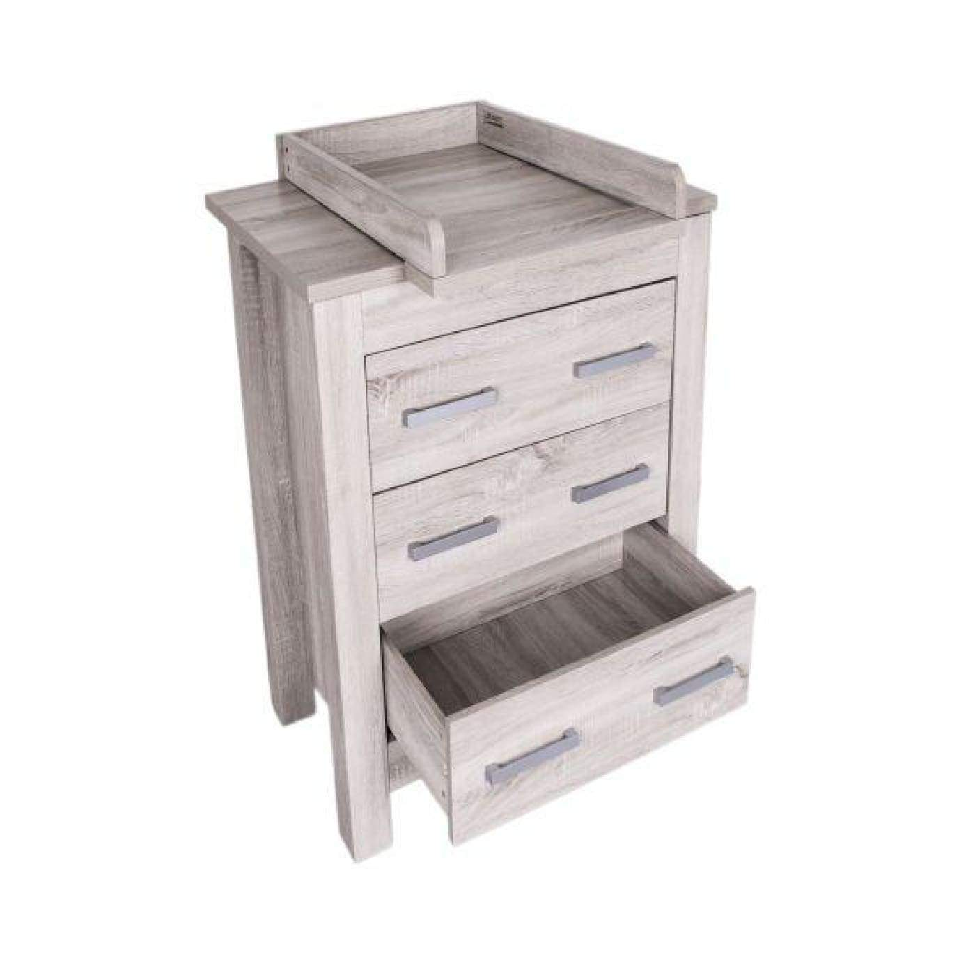 Love N Care Bordeaux Chest - Ash - Available June - Ash - NURSERY & BEDTIME - CHESTS/DRESSERS/TALLBOYS
