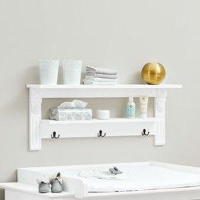 Love N Care Emilia Wallshelf - White - NURSERY & BEDTIME - TOY BOXES/WALL SHELVES