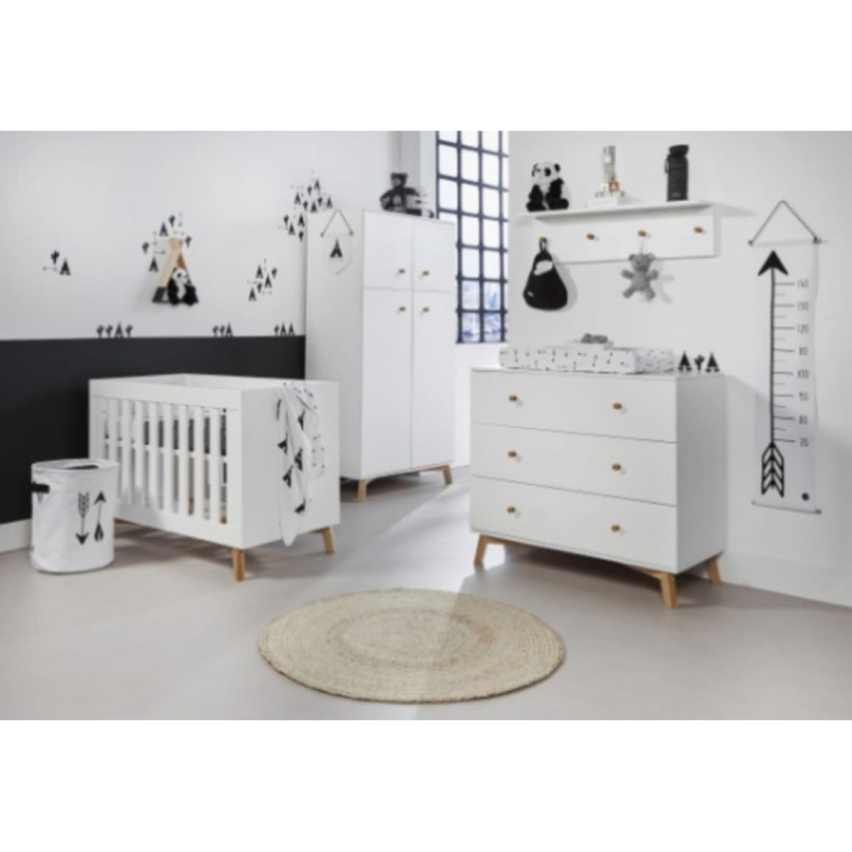 Love N Care Fjord Wardrobe - White - NURSERY & BEDTIME - WARDROBES