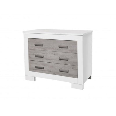 Love N Care Lucca Chest - White/Ash - NURSERY & BEDTIME - CHESTS/DRESSERS/TALLBOYS