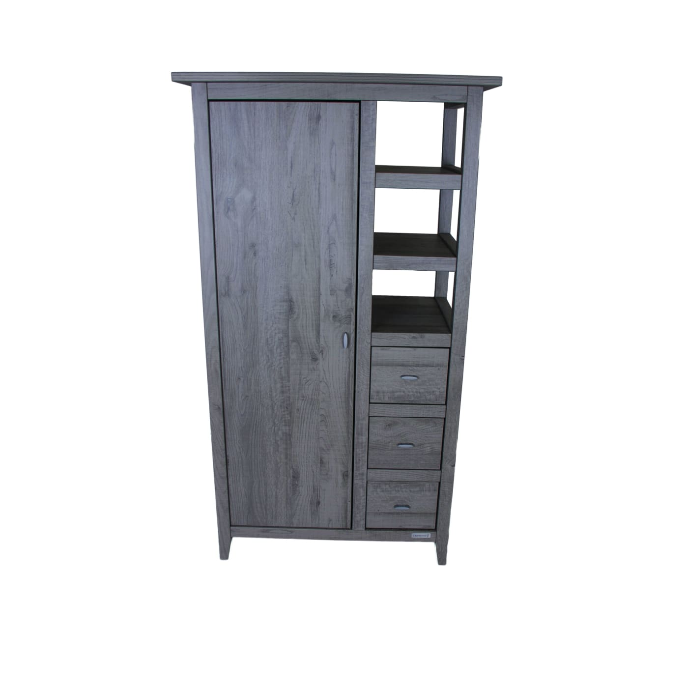 Love N Care Lyon Wardrobe - Dark Grey - NURSERY & BEDTIME - WARDROBES