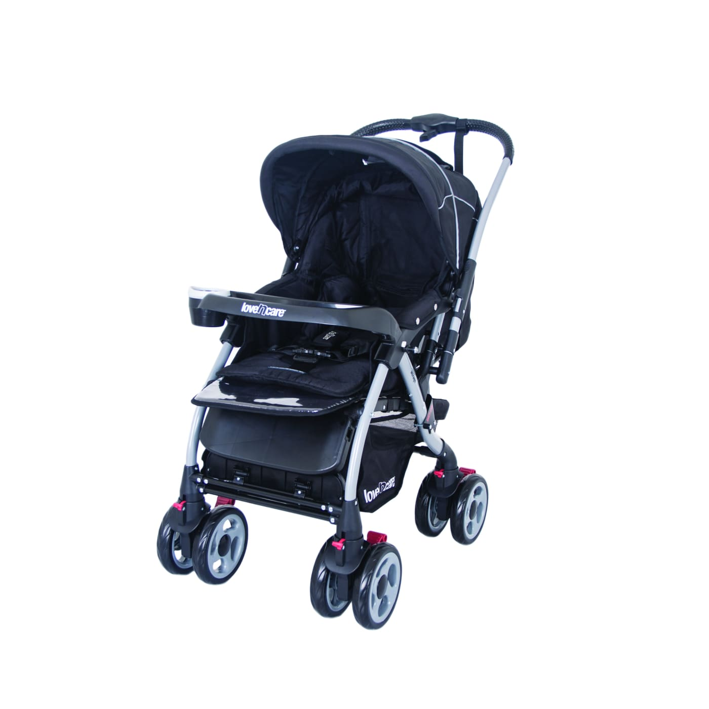 Love N Care Mirage Stroller - Nero - PRAMS & STROLLERS - 4 WHEEL