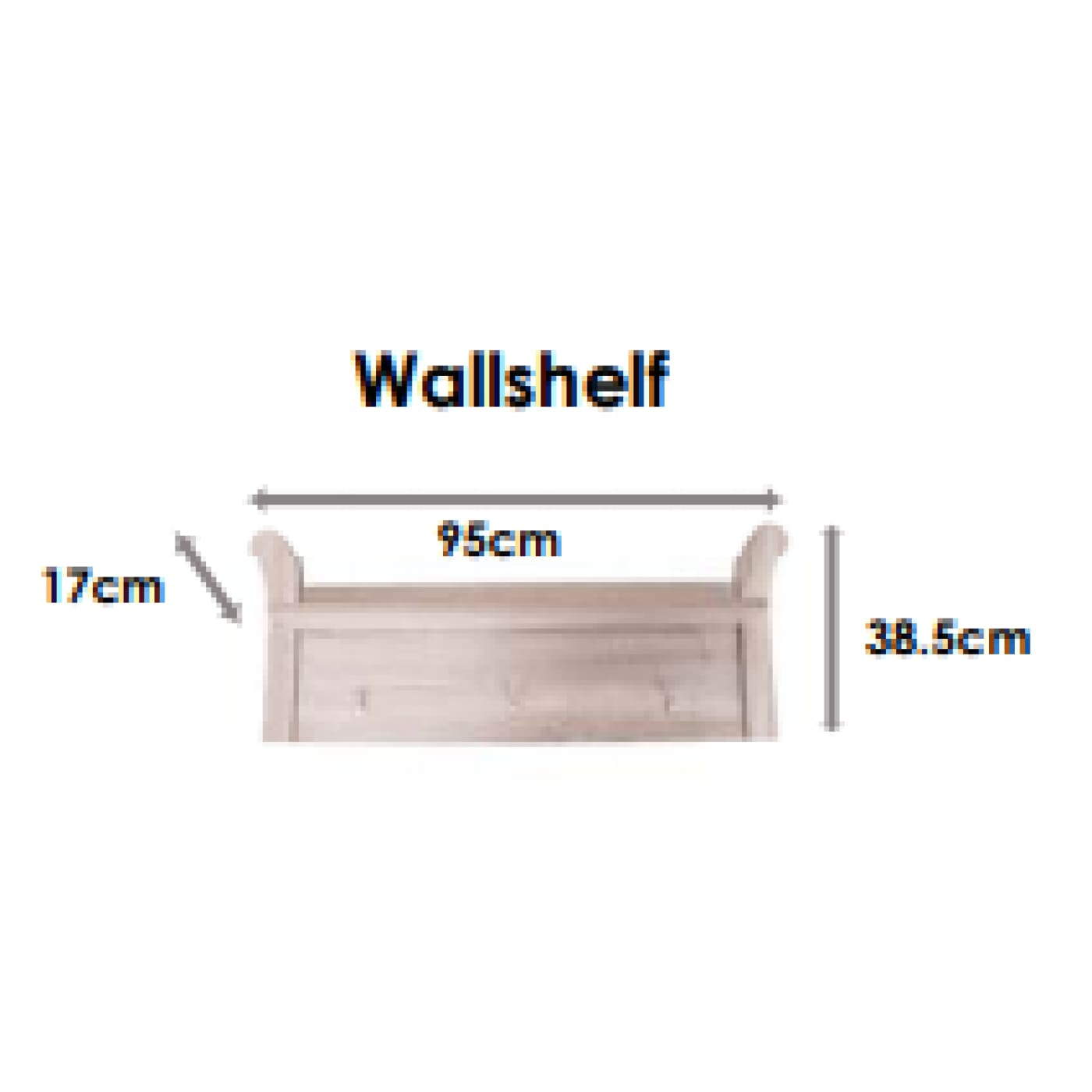 Love n Care Noble Wallshelf - NURSERY & BEDTIME - TOY BOXES/WALL SHELVES