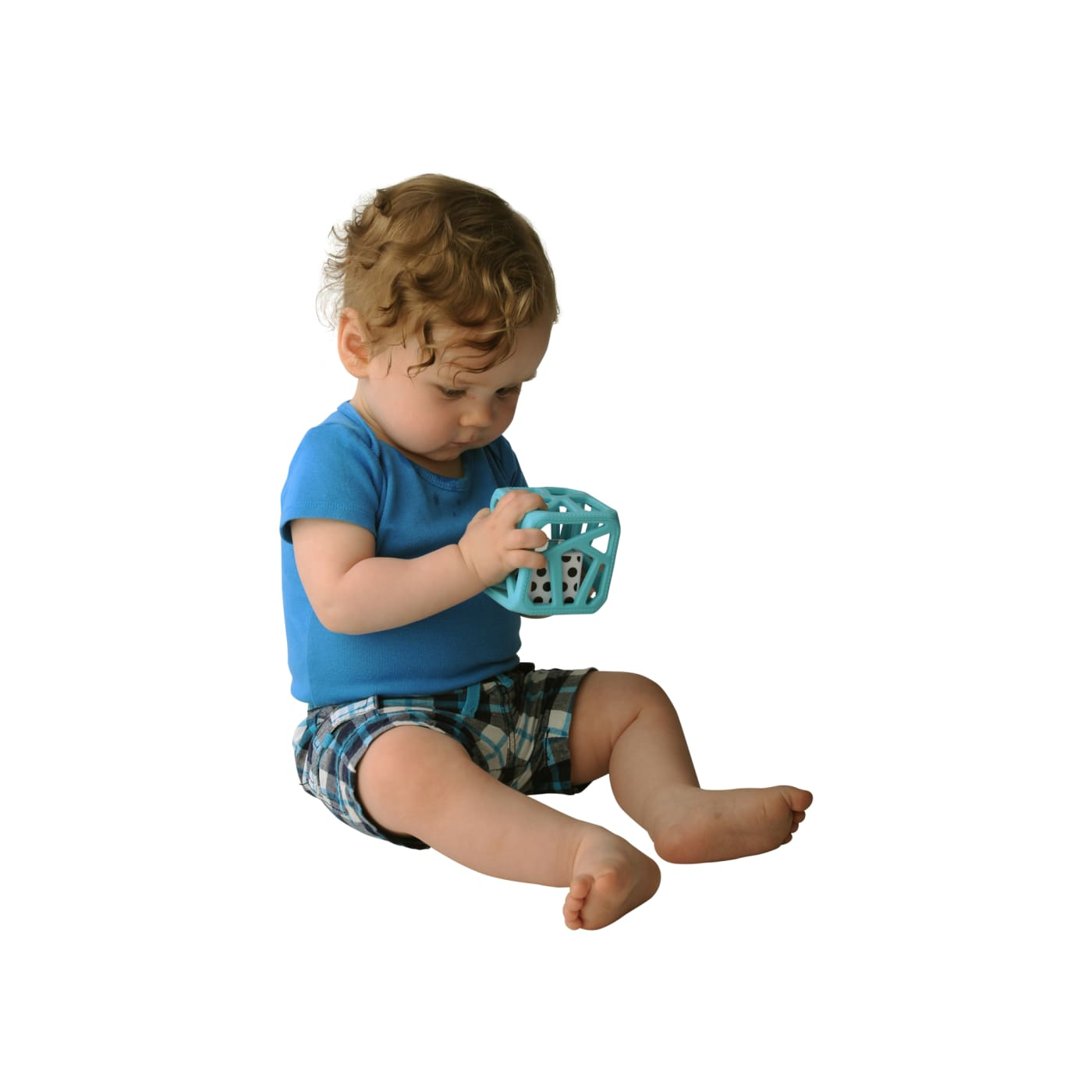 Malarkey Kids Chew Cube - Blue - NURSING & FEEDING - TEETHERS/TEETHING JEWELLERY