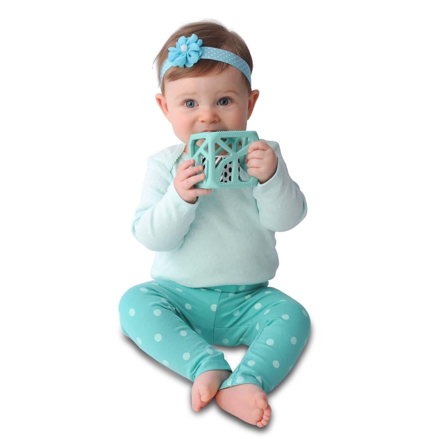 Malarkey Kids Chew Cube - Mint - NURSING & FEEDING - TEETHERS/TEETHING JEWELLERY