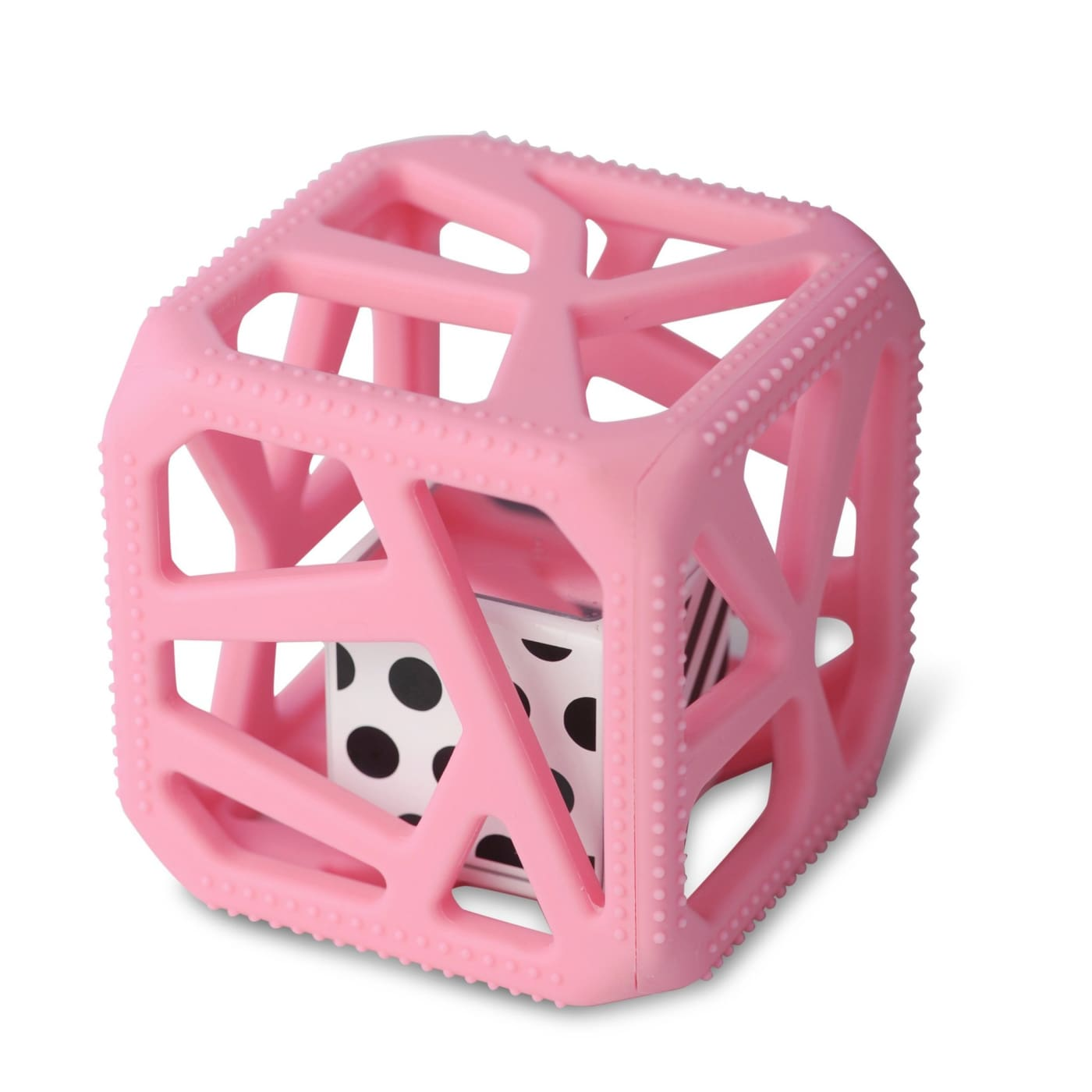 Malarkey Kids Chew Cube - Pink - NURSING & FEEDING - TEETHERS/TEETHING JEWELLERY