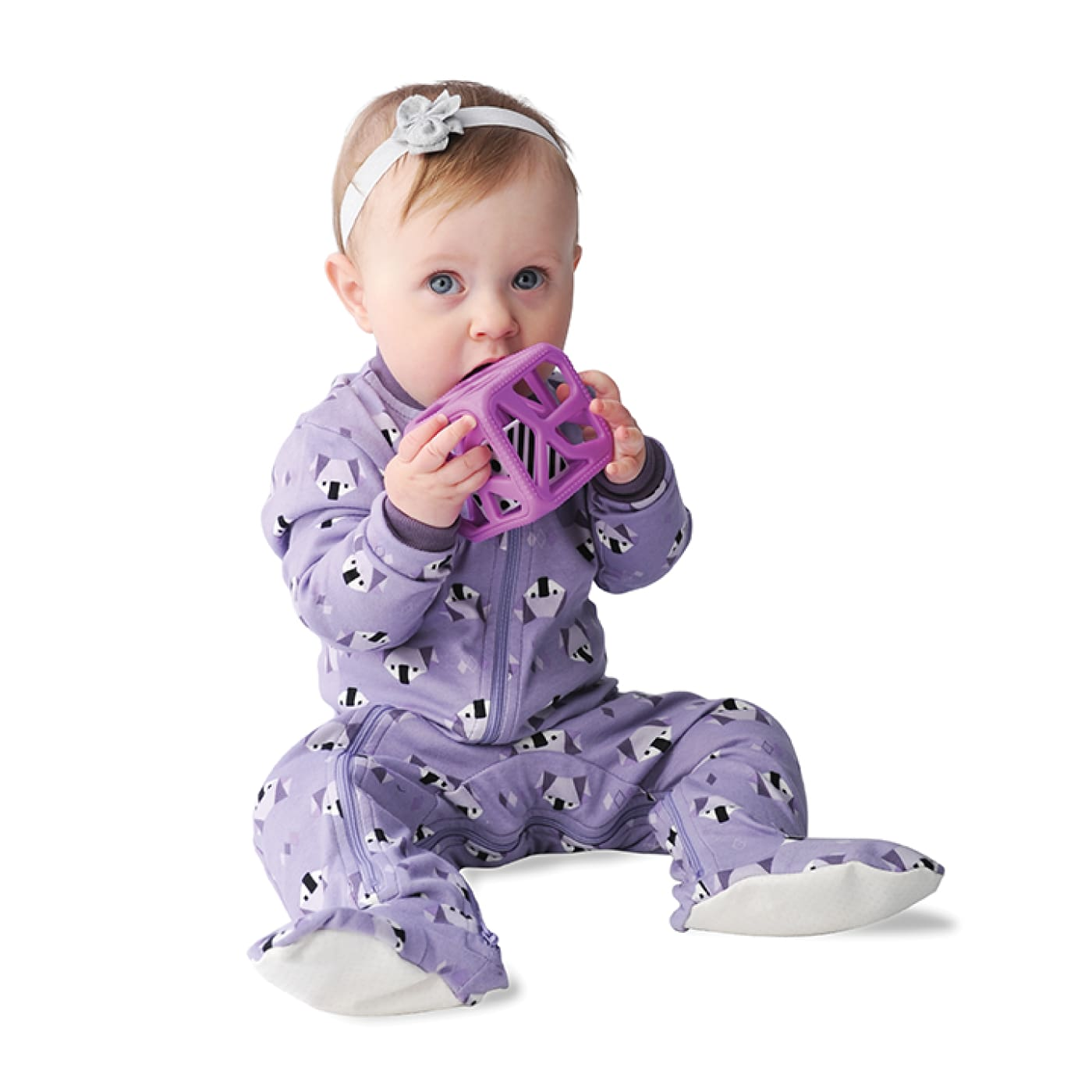 Malarkey Kids Chew Cube - Purple - NURSING & FEEDING - TEETHERS/TEETHING JEWELLERY