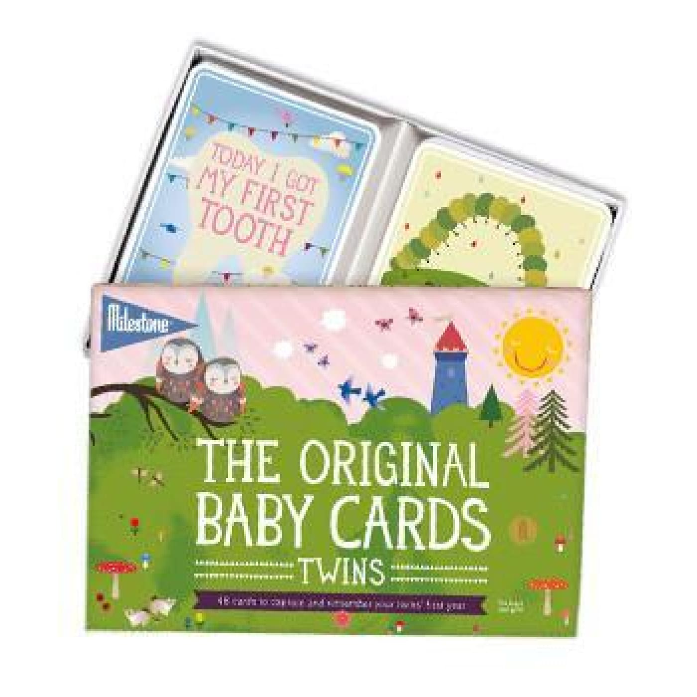 Milestone The Original Baby Photo Cards - Twins - Twins - GIFTWARE - MILESTONE BLOCKS/CARDS