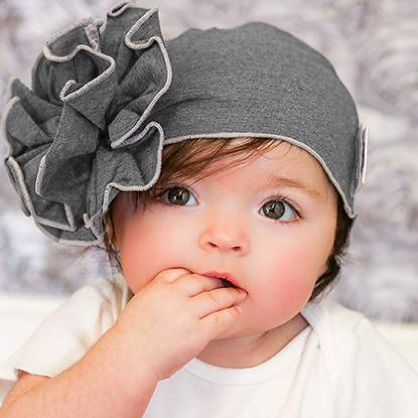 Mod Swad Bamboo Flower Beanie - Metro - Large - Large / Metro - BABY & TODDLER CLOTHING - BEANIES/HATS