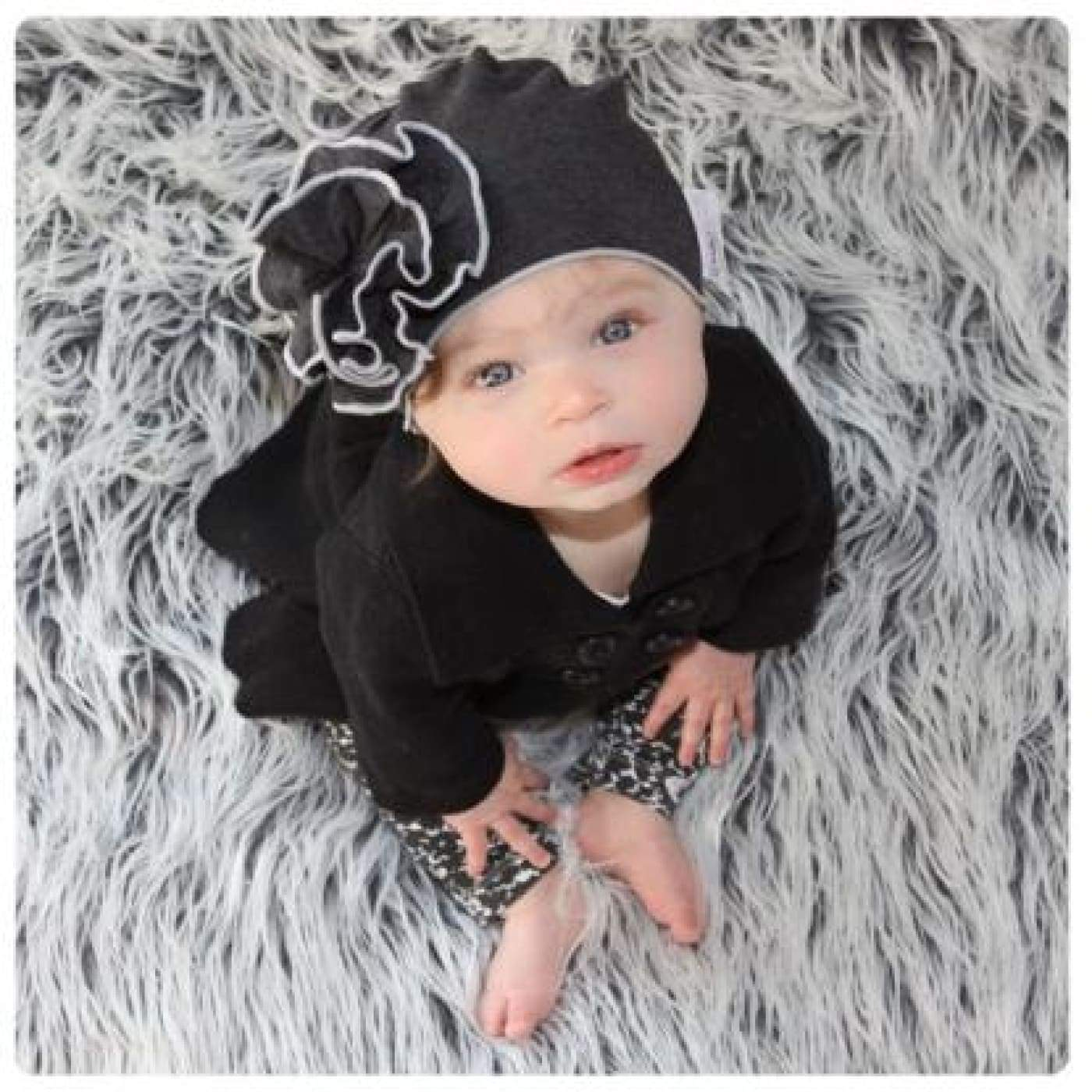 Mod Swad Bamboo Flower Beanie - Rockstar - Large - Large / Rockstar - BABY & TODDLER CLOTHING - BEANIES/HATS