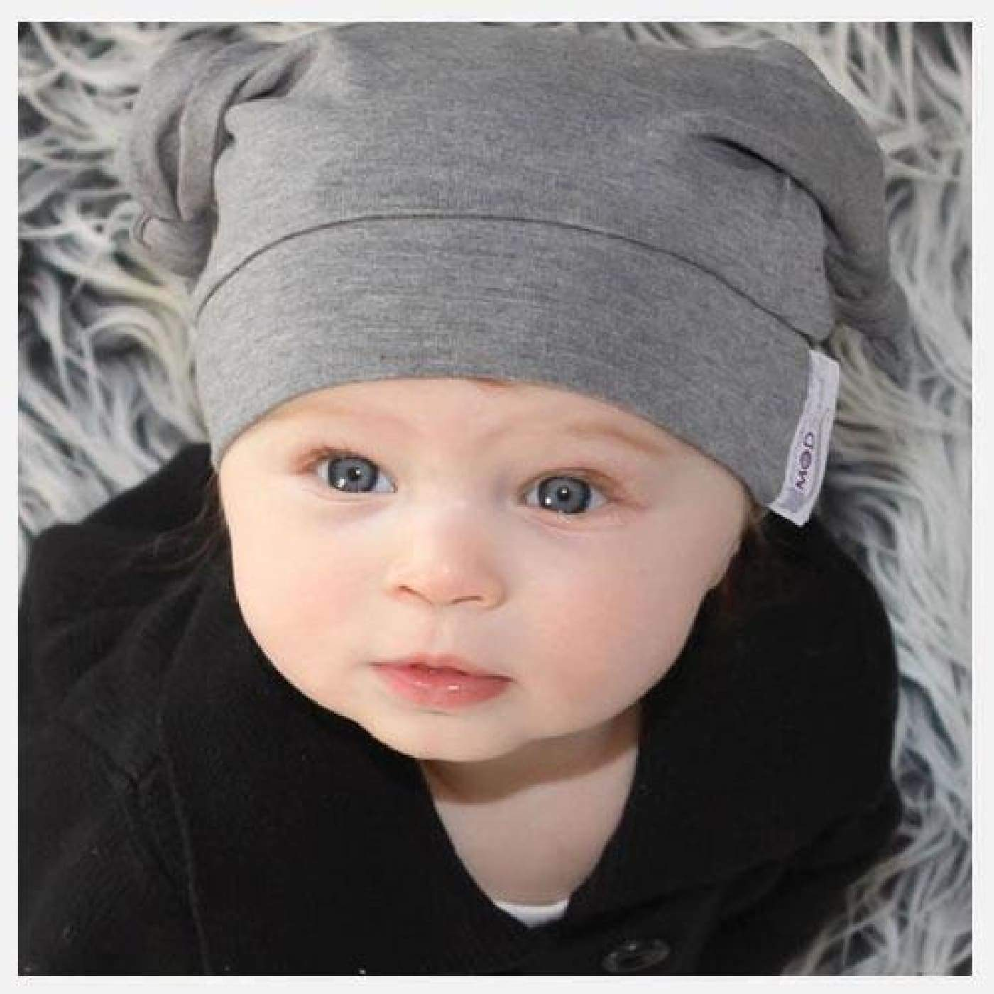 Mod Swad Bamboo Knot Beanie - Metro - Large - Large / Metro - BABY & TODDLER CLOTHING - BEANIES/HATS