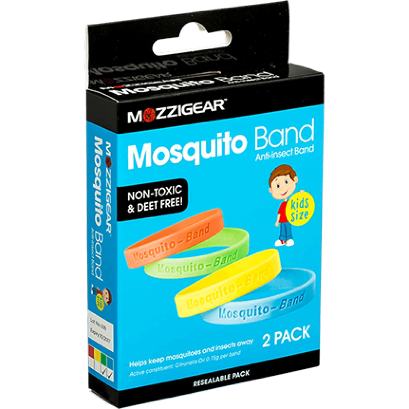 Mozzi Gear Childrens Mosquito Bands 2PK - ON THE GO - INSECT REPELLENT