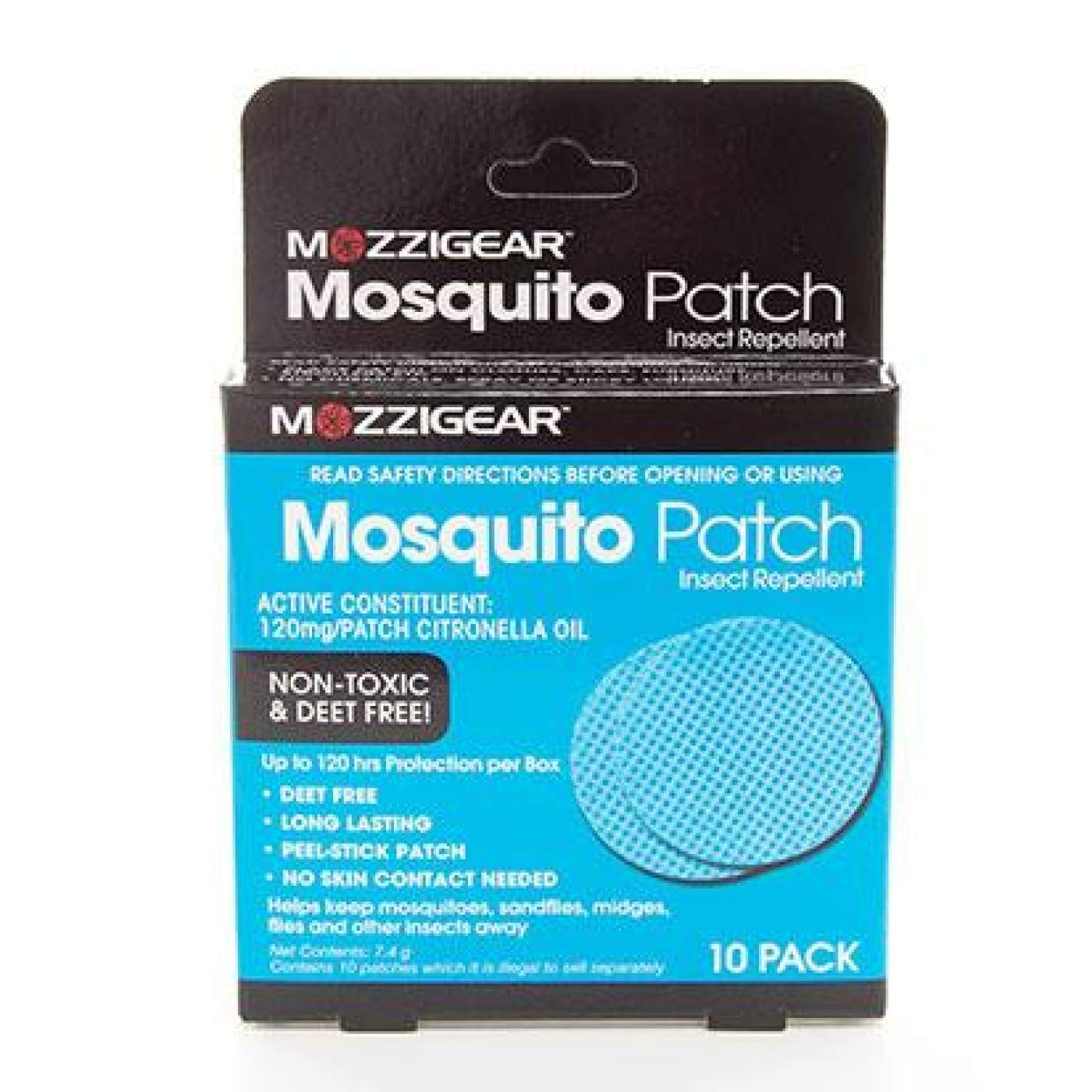 Mozzi Gear Mosquito Patch 10PK - ON THE GO - INSECT REPELLENT