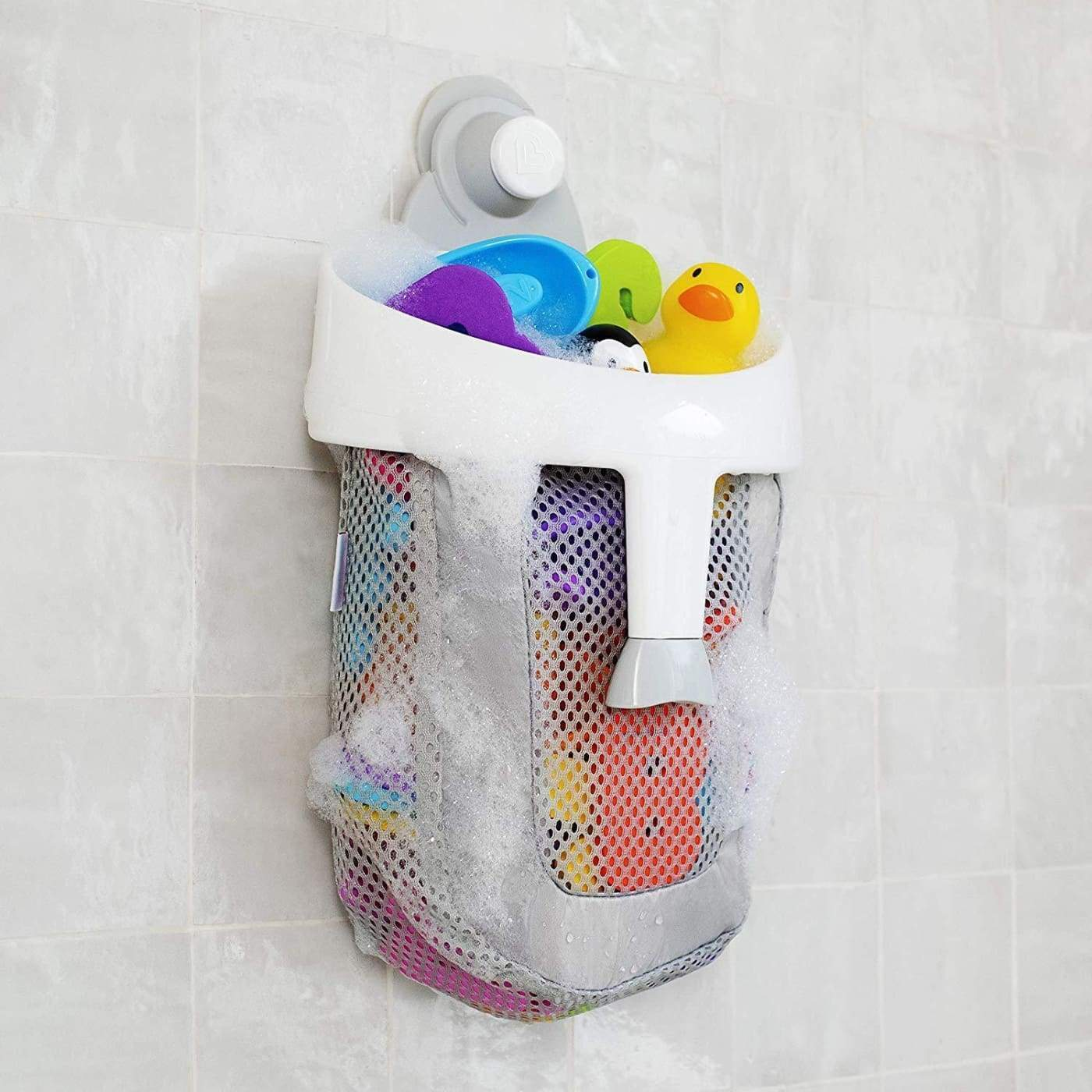 Munchkin Super Scoop Bath Organiser- Grey - BATHTIME & CHANGING - BATH TOYS/AIDS