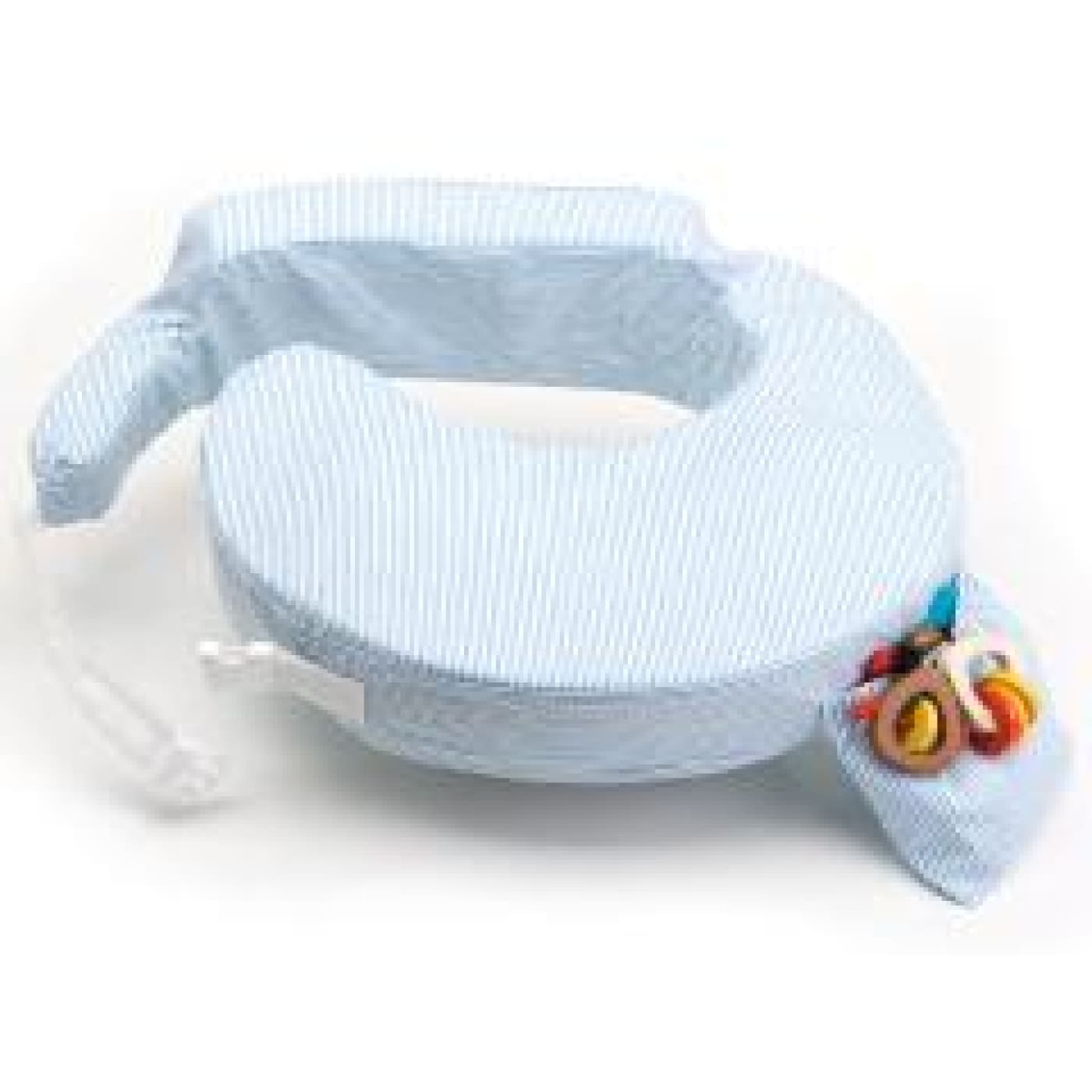 My Brest Friend Feeding Pillow - Light Blue Stripe - Blue - NURSING & FEEDING - NURSING PILLOWS/COVERS