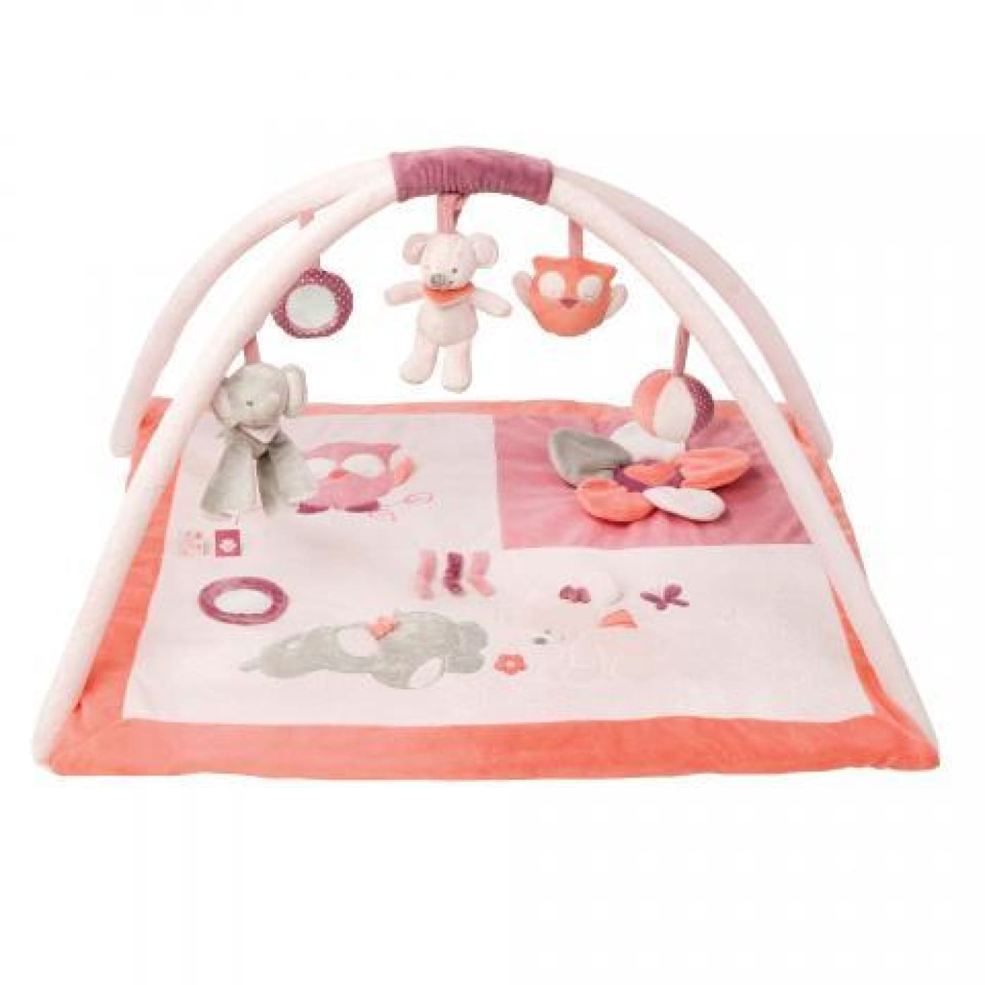 Nattou Adele & Valentine - Playmat With Arches PINK - TOYS & PLAY - PLAY MATS/GYMS