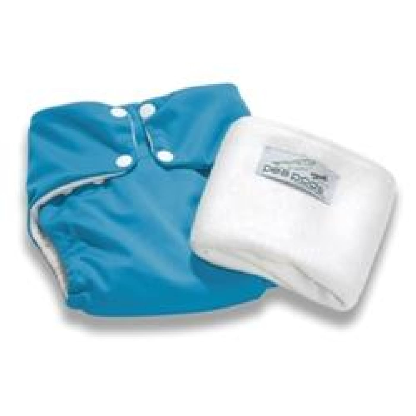 Pea Pods One Size Fits All Nappy - Aqua Blue - BATHTIME & CHANGING - NAPPIES/WIPES/ACC ECO RANGE