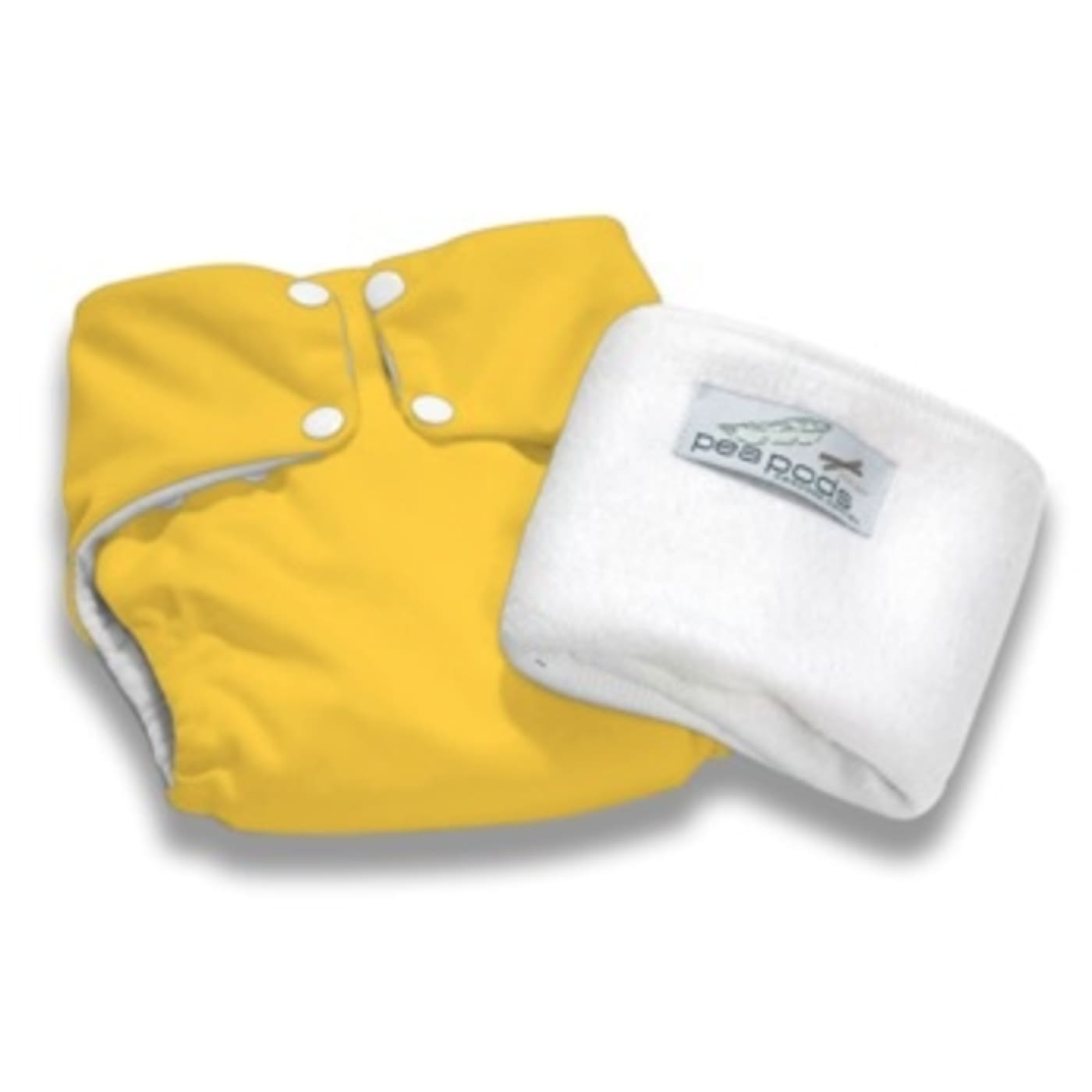 Pea Pods One Size Fits All Nappy - Bright yellow - BATHTIME & CHANGING - NAPPIES/WIPES/ACC ECO RANGE