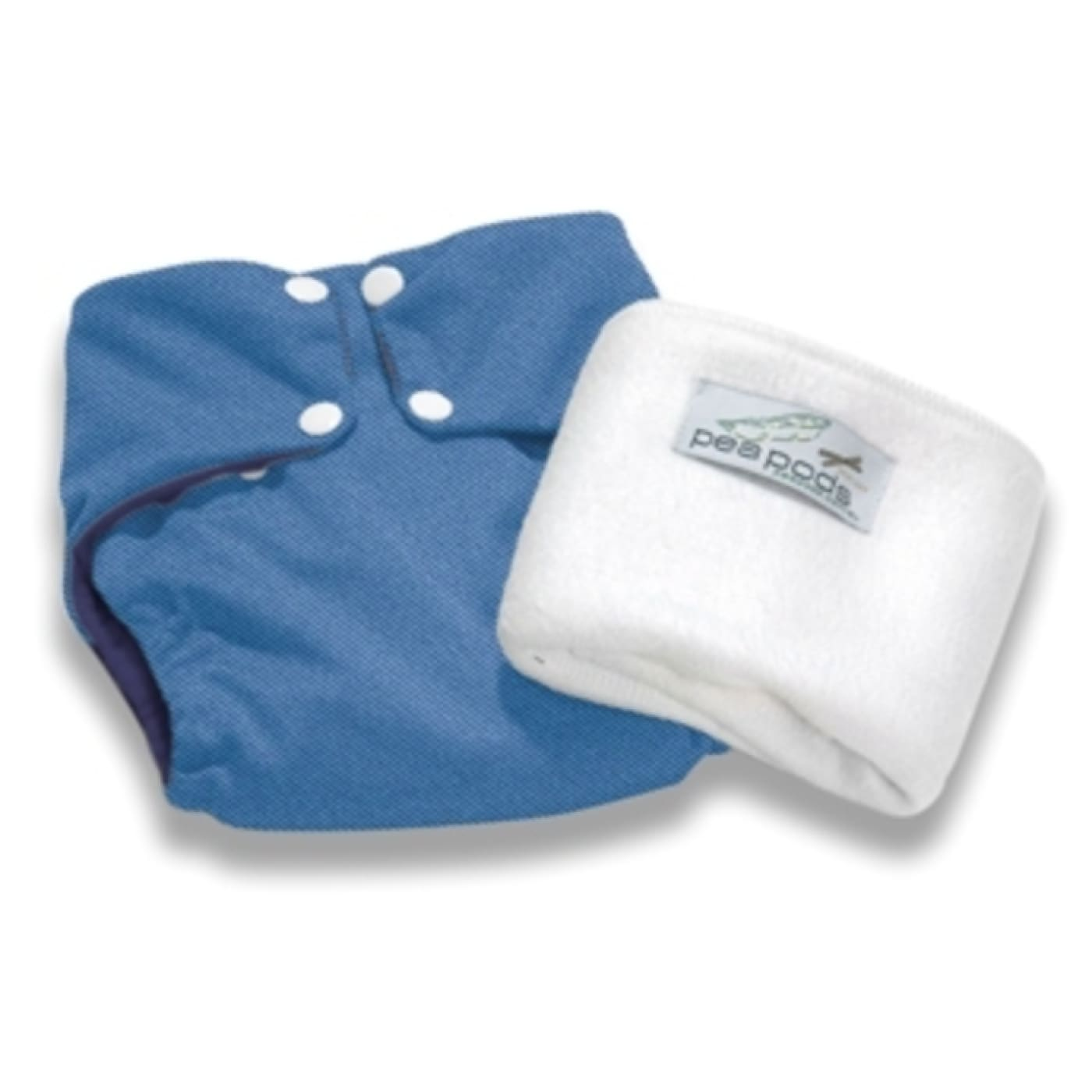 Pea Pods One Size Fits All Nappy - Denim - BATHTIME & CHANGING - NAPPIES/WIPES/ACC ECO RANGE