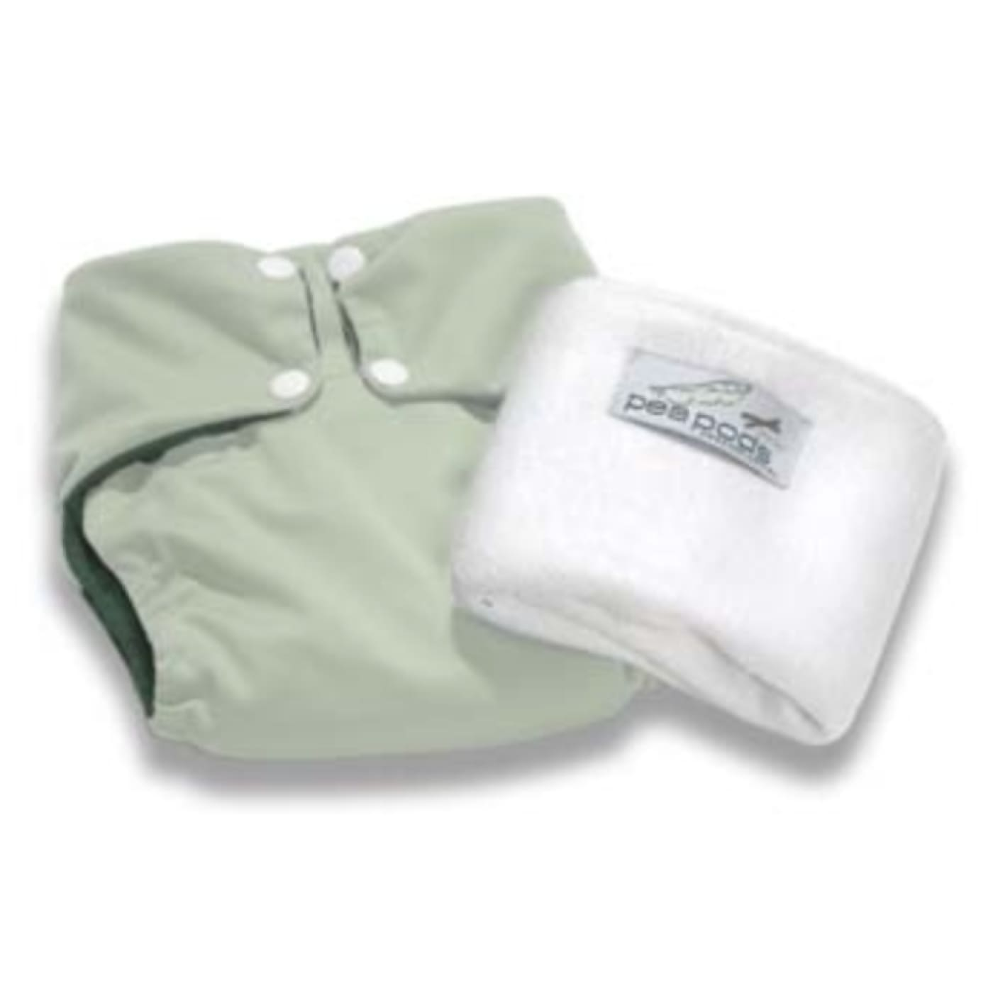 Pea Pods One Size Fits All Nappy - Pastel Green - BATHTIME & CHANGING - NAPPIES/WIPES/ACC ECO RANGE