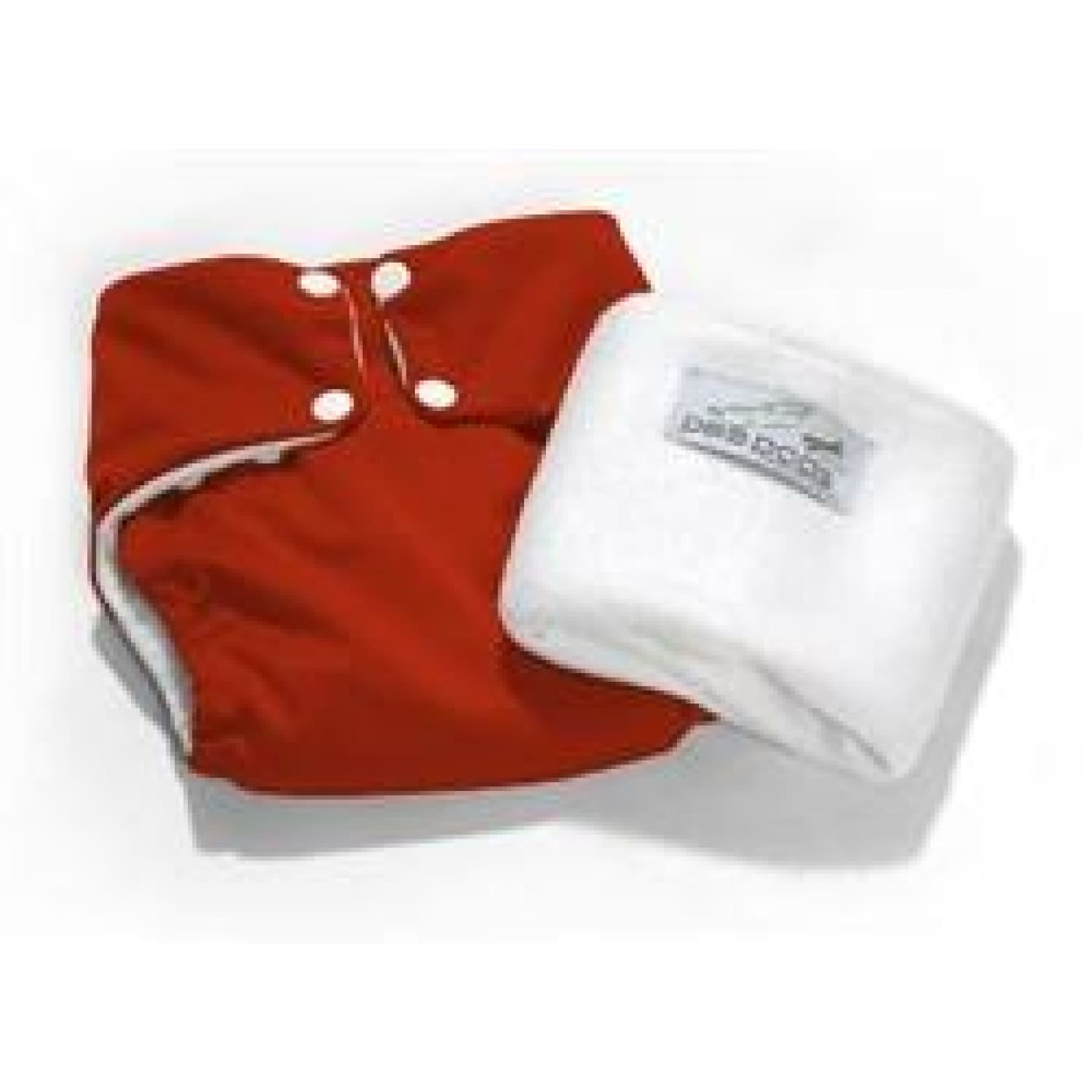 Pea Pods One Size Fits All Nappy - Red - BATHTIME & CHANGING - NAPPIES/WIPES/ACC ECO RANGE