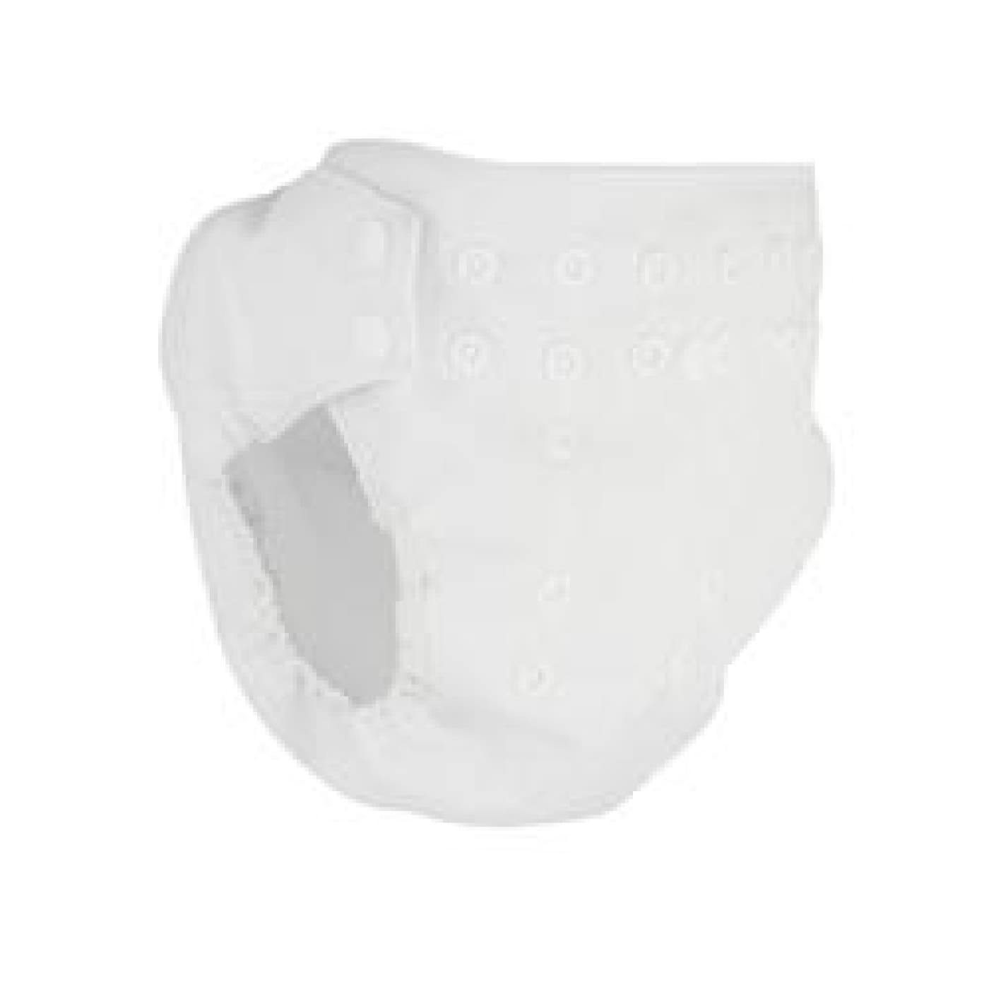 Pea Pods Pilcher Nappy Cover - White - BATHTIME & CHANGING - NAPPIES/WIPES/ACC ECO RANGE