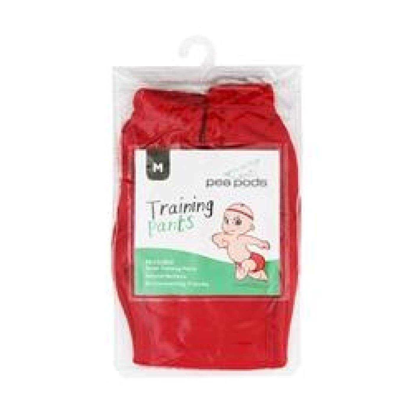 Pea Pods Training Pants Medium - Racing Red - BATHTIME & CHANGING - NAPPIES/WIPES/ACC ECO RANGE