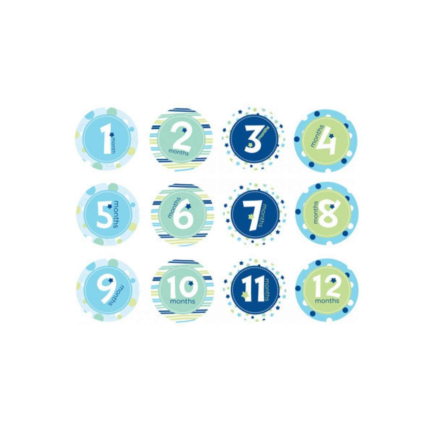 Pearhead First Year Belly Stickers - Blue - Blue - Baby - Gift
