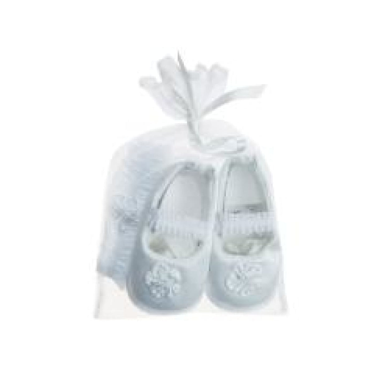 Playette Occassion Satin Shoe/Headband Gift Set - White 0-3M - BABY & TODDLER CLOTHING - HEADBANDS/HAIR CLIPS