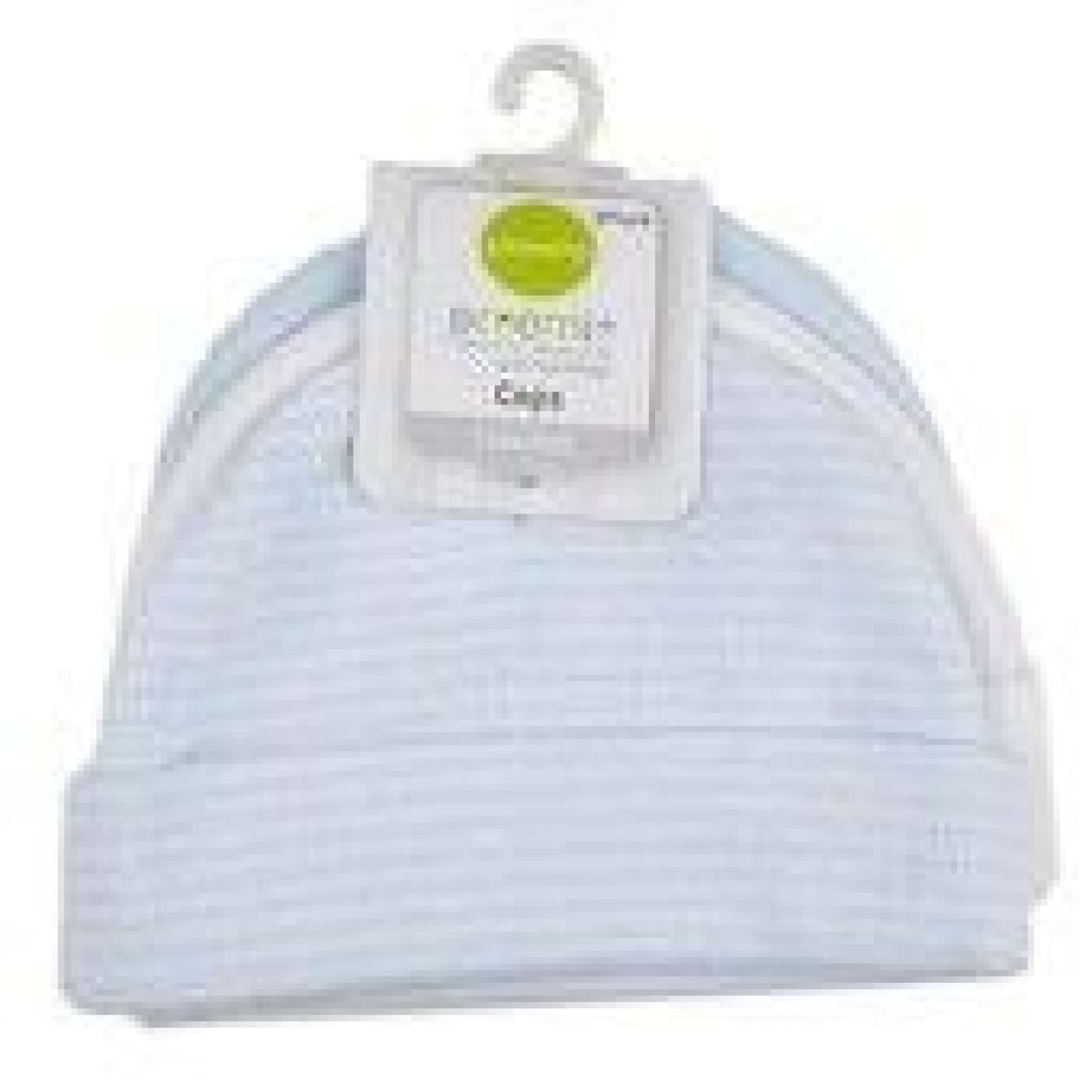 Playette Preemie Caps - Blue/White 3PK - Prem / Blue/White - BABY & TODDLER CLOTHING - BEANIES/HATS