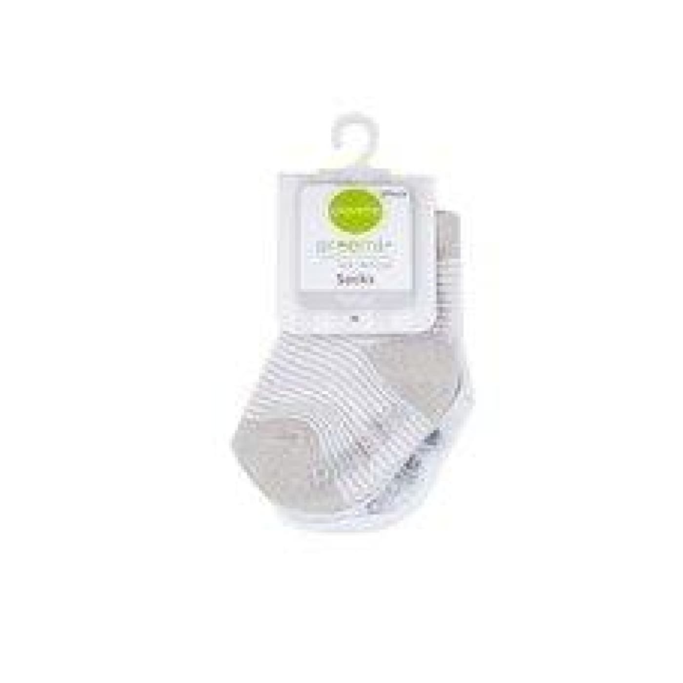 Playette Preemie Fashion Socks - Grey 2PK - Prem / Grey/White - BABY & TODDLER CLOTHING - MITTENS/SOCKS/SHOES