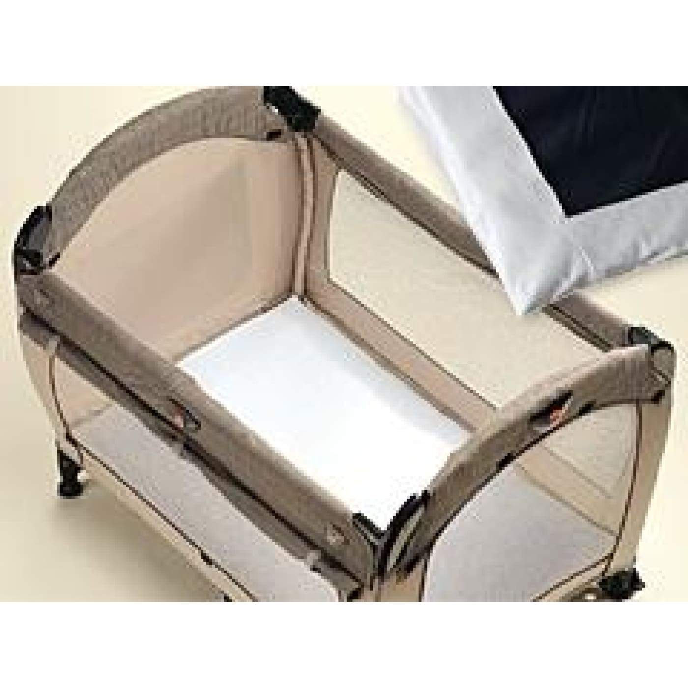 Playette Travel Cot Fitted Sheet - White - ON THE GO - PORTACOTS/ACCESSORIES