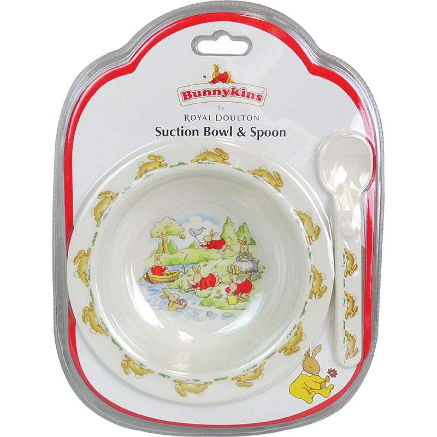 Bunnykins Suction Bowl & Spoon - Red - NURSING & FEEDING - CUTLERY/PLATES/BOWLS/TOYS