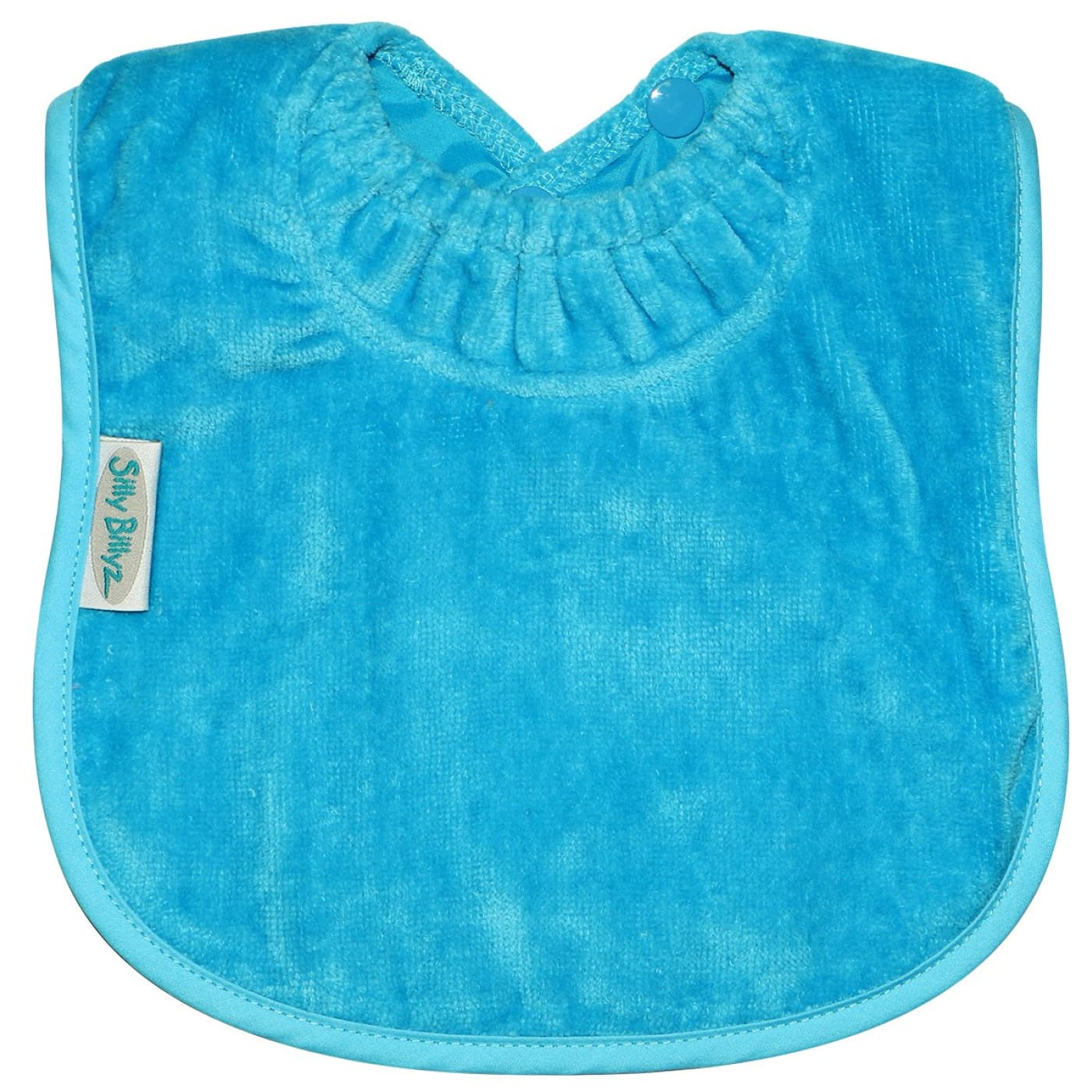 Silly Billyz Towel Plain Large Bib - Aqua - NURSING & FEEDING - BIBS/BURP CLOTHS