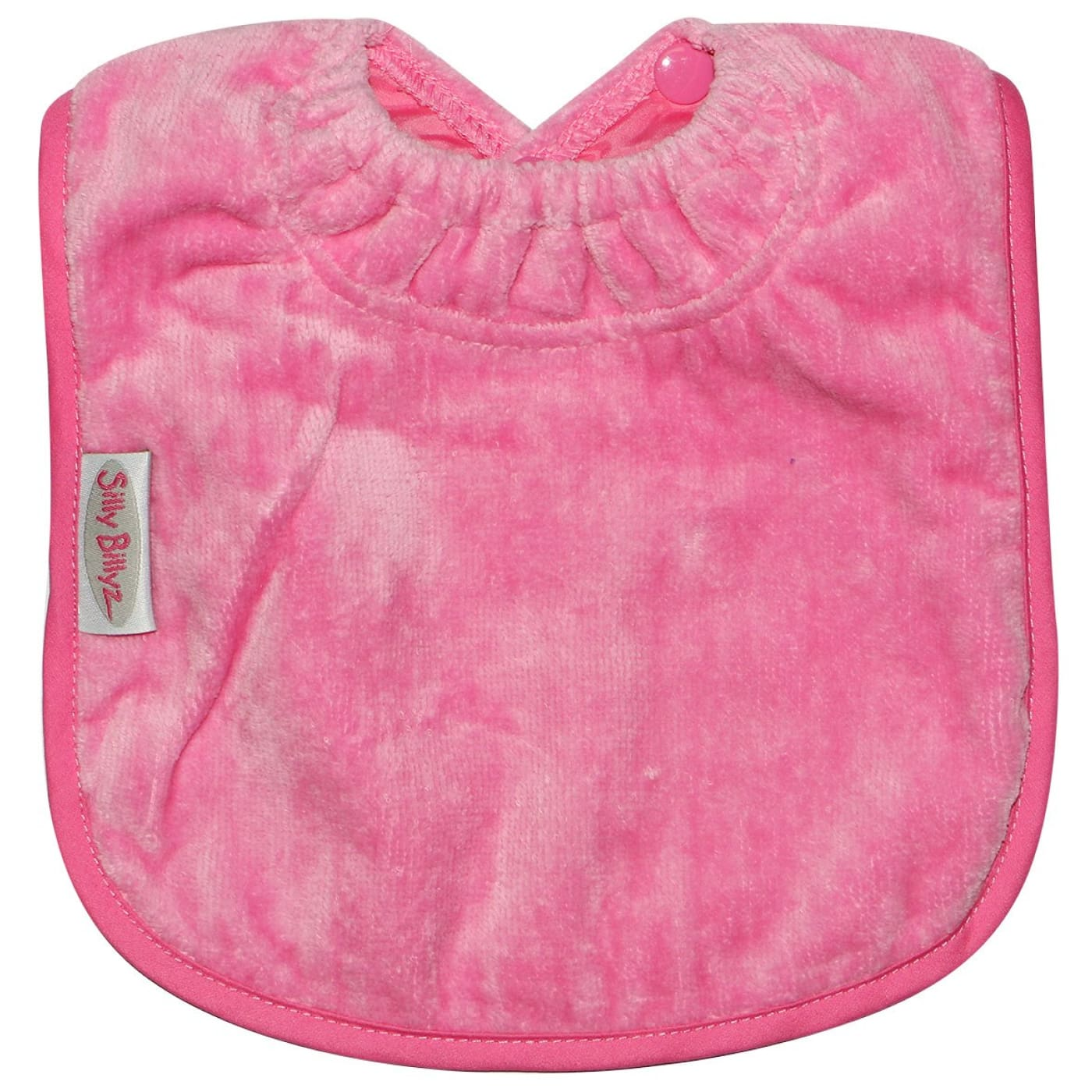 Silly Billyz Towel Plain Large Bib - Cerise - NURSING & FEEDING - BIBS/BURP CLOTHS