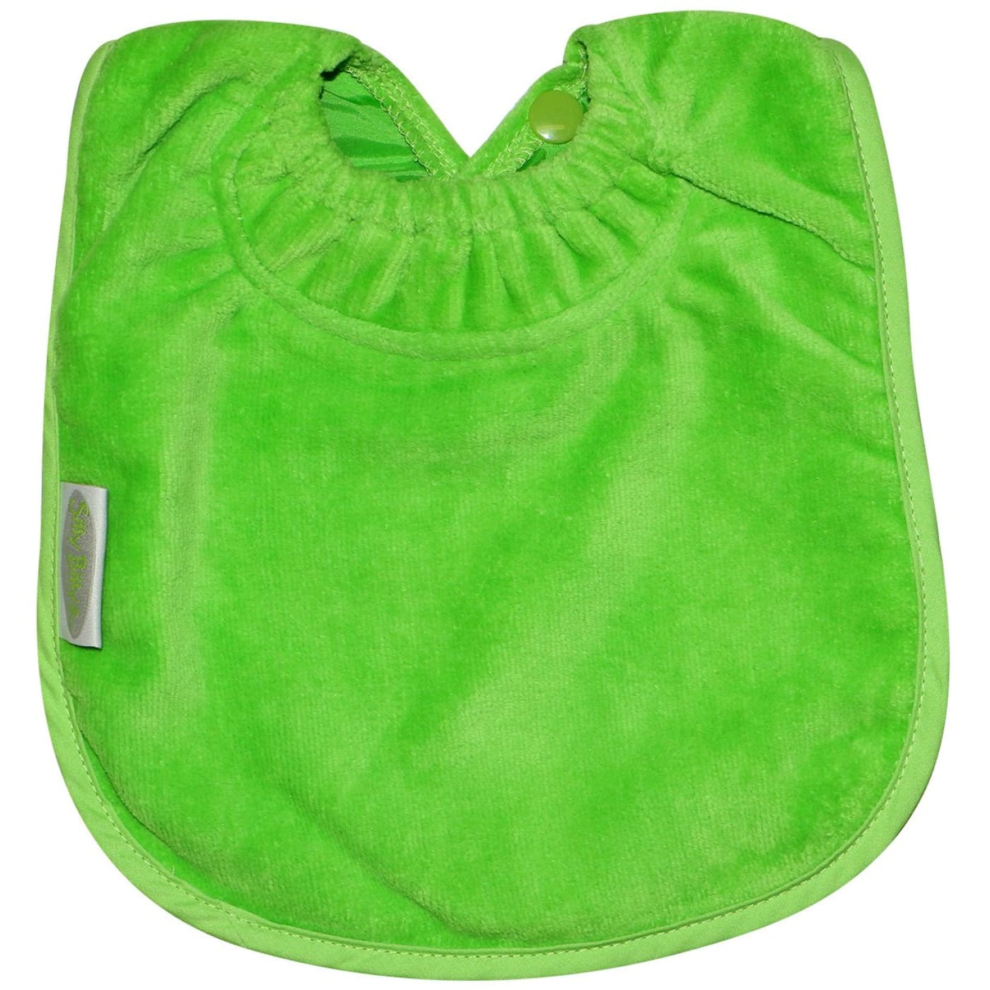 Silly Billyz Towel Plain Large Bib - Lime - NURSING & FEEDING - BIBS/BURP CLOTHS