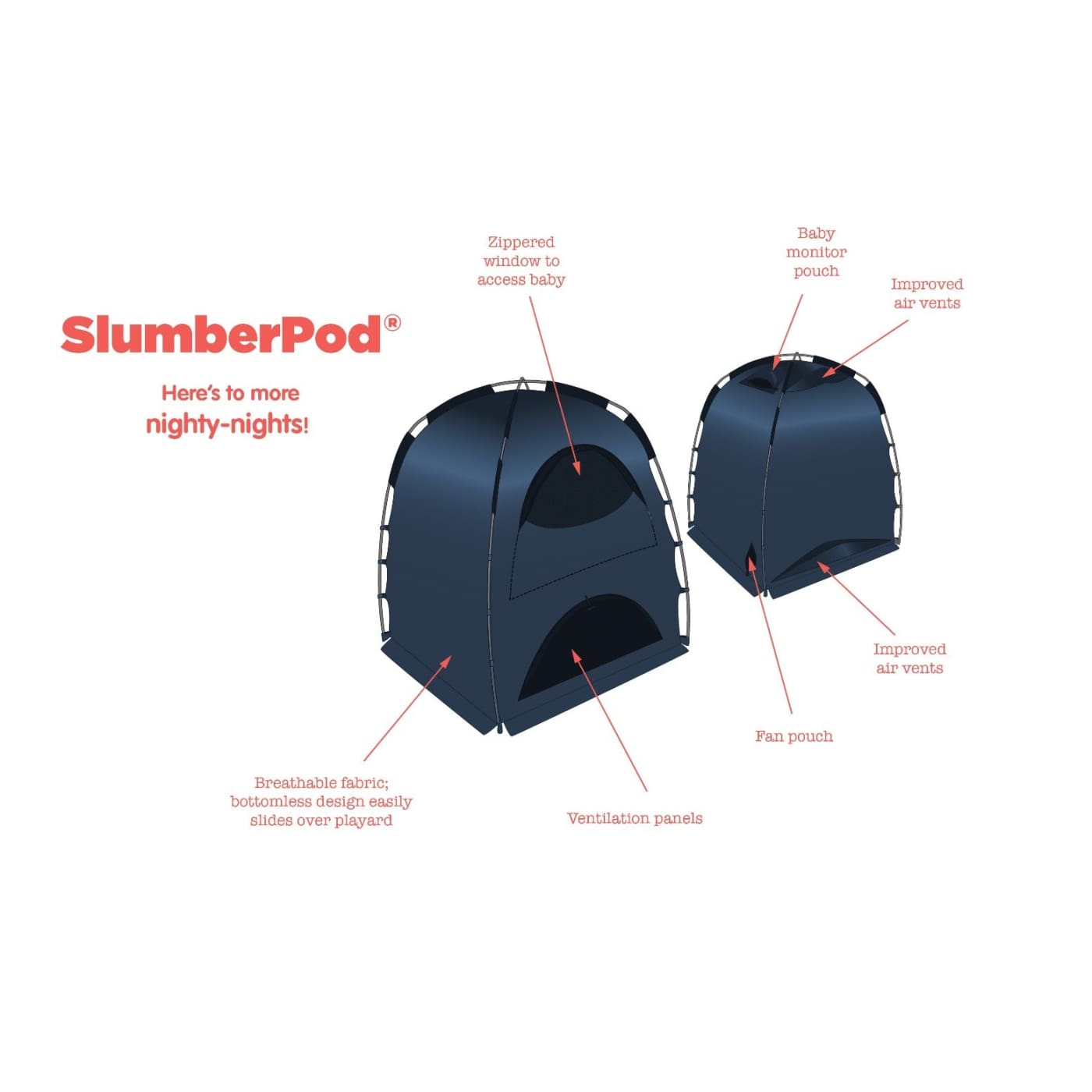 SlumberPod Baby Privacy Pod - ON THE GO - PORTACOTS/ACCESSORIES