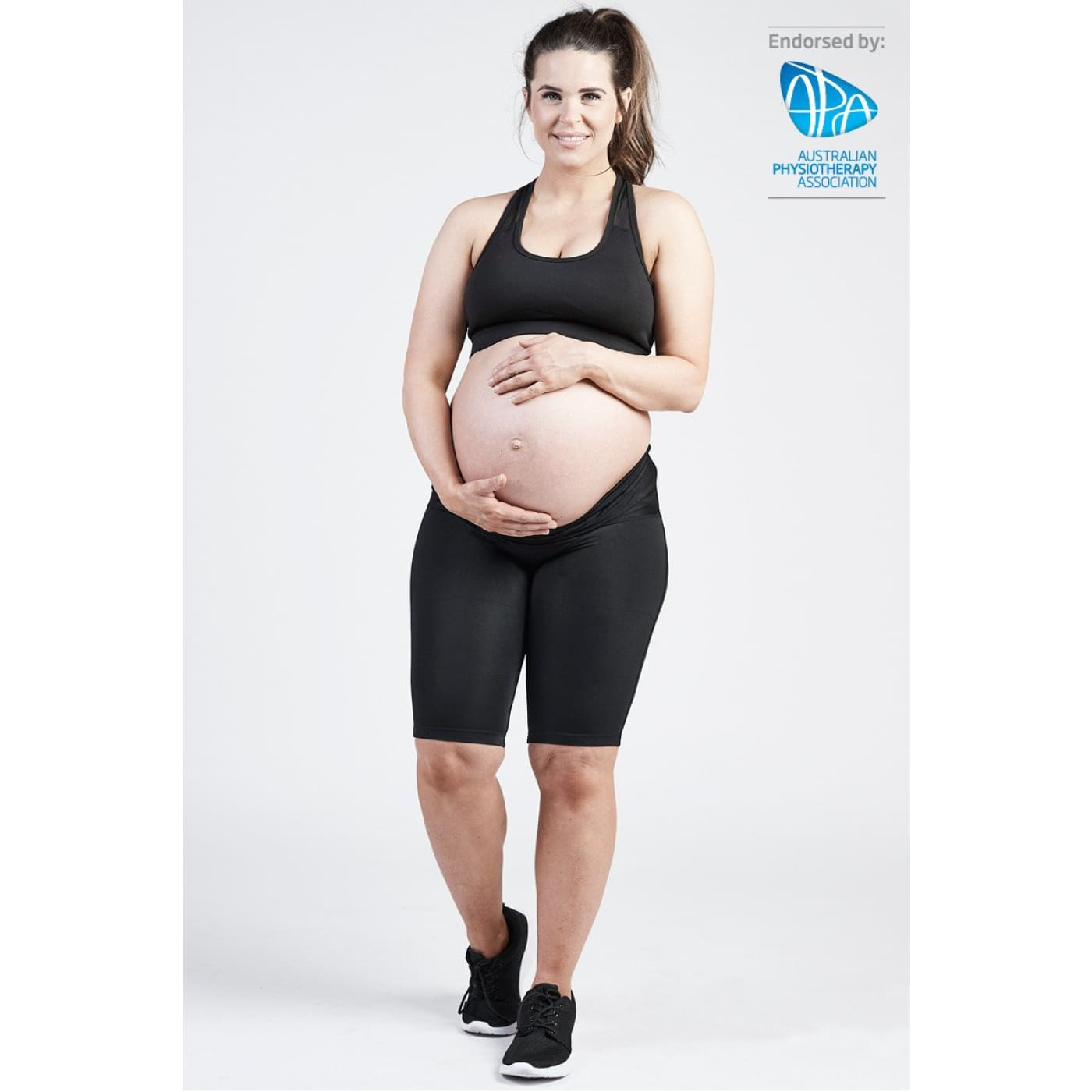 SRC Pregnancy Shorts - Black XS - FOR MUM - MATERNITY SUPPORT GARMENTS (PRE/POST)