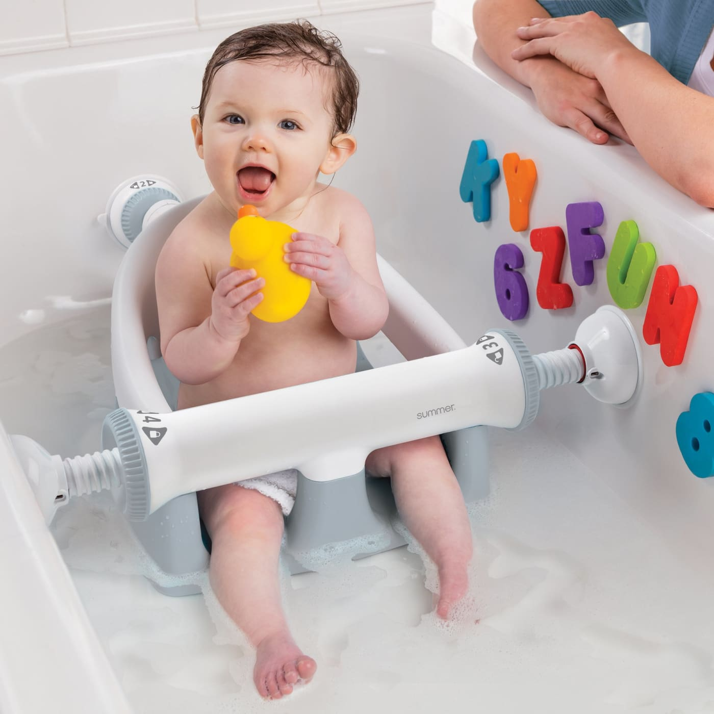 Summer Infant My Bath Seat - Grey - Grey - BATHTIME & CHANGING - BATH SUPPORTS/SEATS