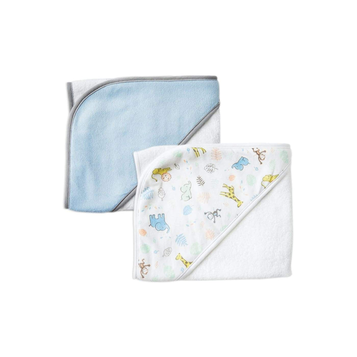 The Little Linen Company Hooded Towel 2pk - Jungle Mates - BATHTIME & CHANGING - TOWELS/WASHERS