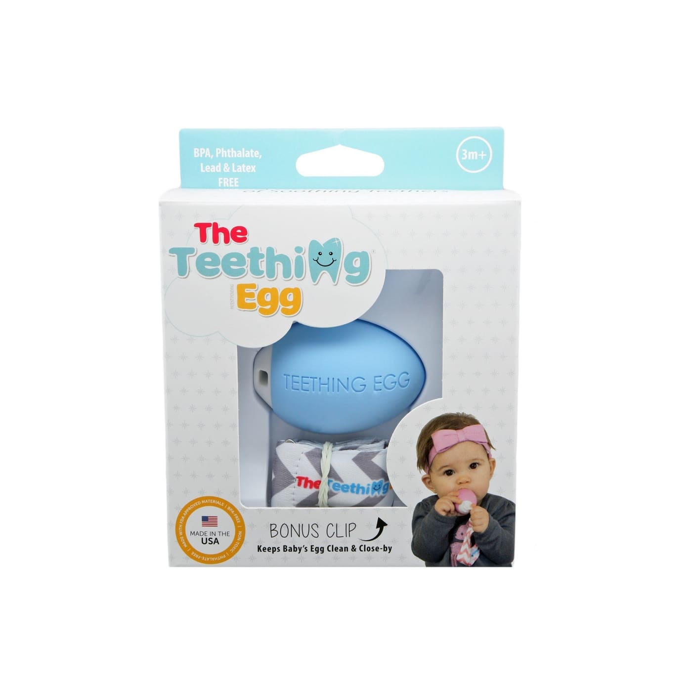 The Teething Egg - Blue - NURSING & FEEDING - TEETHERS/TEETHING JEWELLERY