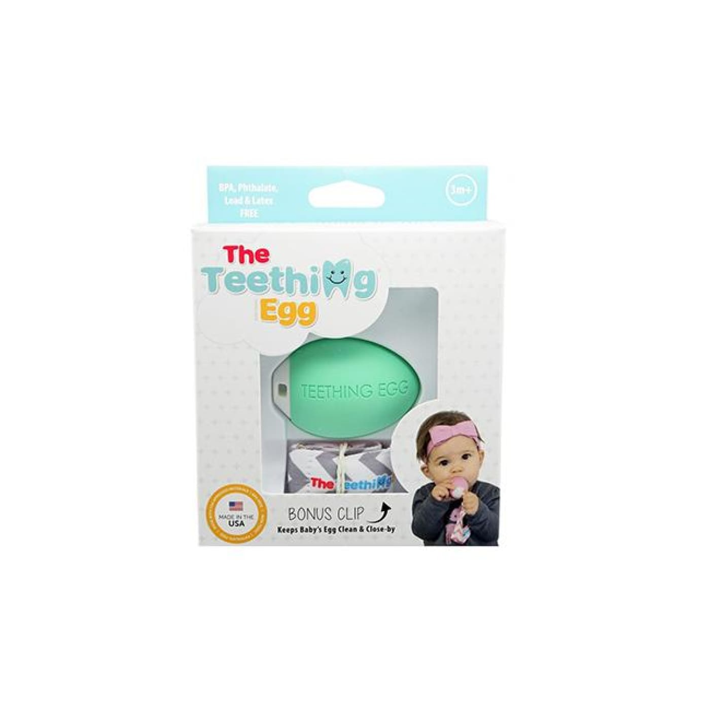 The Teething Egg - Green - NURSING & FEEDING - TEETHERS/TEETHING JEWELLERY