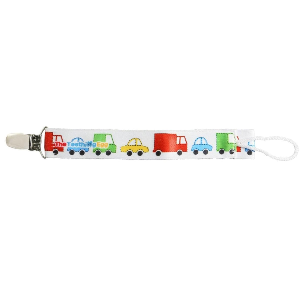 The Teething Egg Soother Strap - Cars - NURSING & FEEDING - TEETHERS/TEETHING JEWELLERY