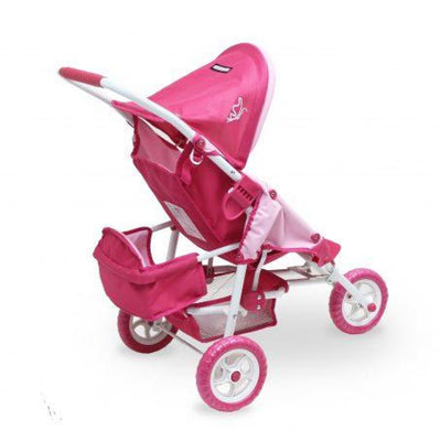 Valco Baby Just Like Mum Mini Marathon with Toddler Seat - Butterfly/Pink - TOYS & PLAY - DOLLS/DOLL PRAMS