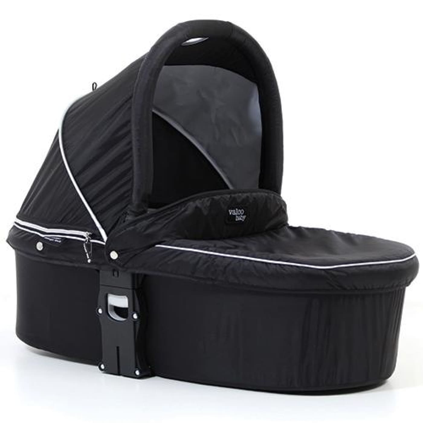 Valco Baby Q Bassinet - Midnight Black - PRAMS & STROLLERS - BASS/CARRY COTS/STANDS