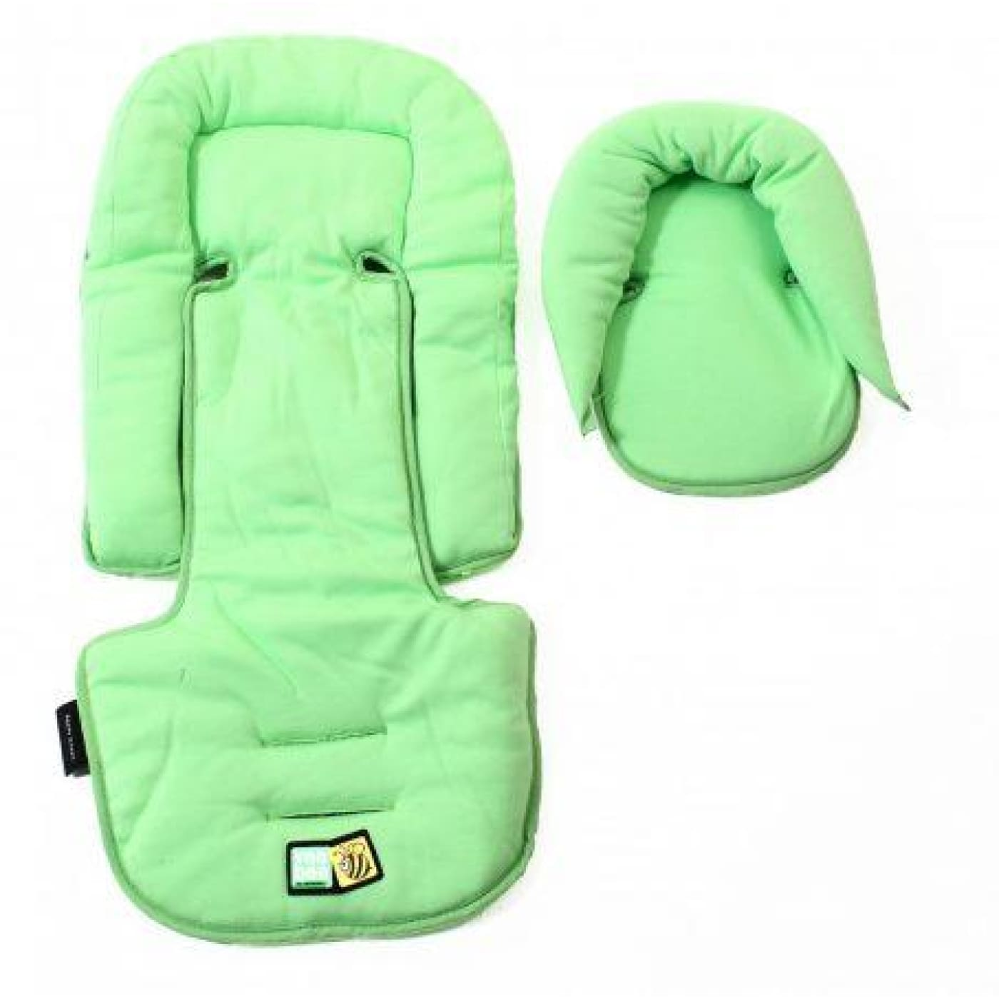 Veebee Allsorts Seat Pad & Head Hugger - Green Apple - PRAMS & STROLLERS - HEAD SUPPORTS