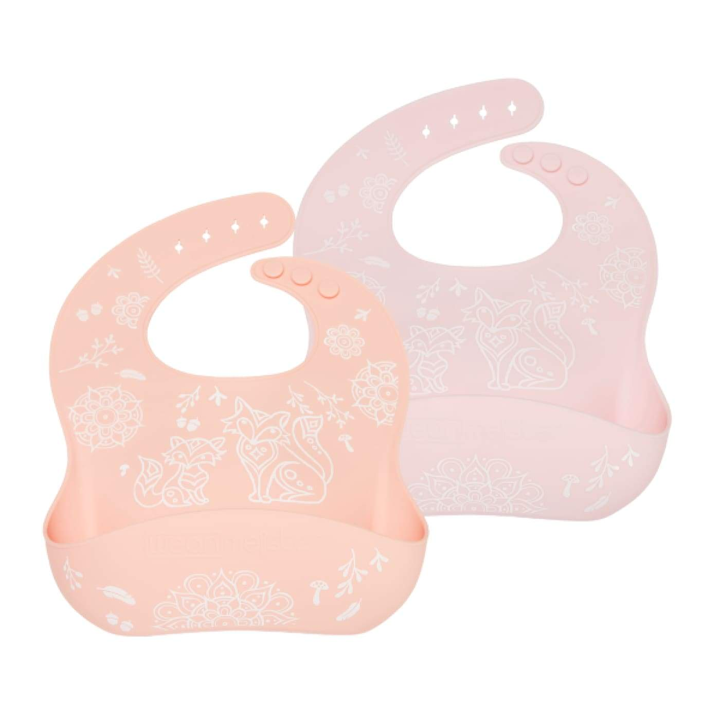 Weanmeister Easy Rinse Bibs - Funky Fox 2PK - NURSING & FEEDING - BIBS/BURP CLOTHS