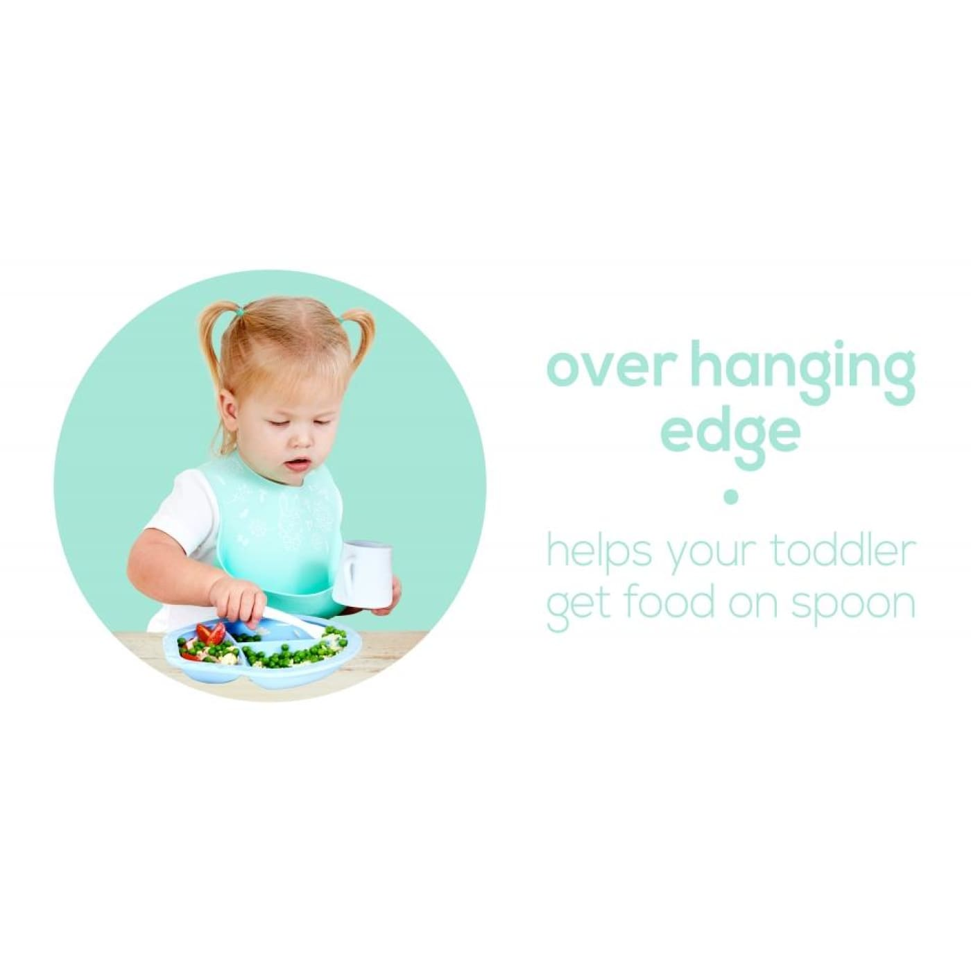 Weanmeister Scoopsy Plate - Teal Blue - NURSING & FEEDING - CUTLERY/PLATES/BOWLS/TOYS