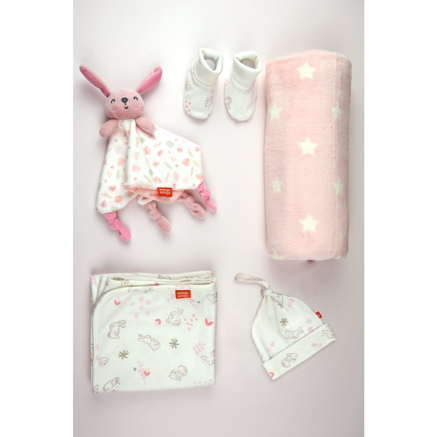 Weegoamigo Jersey and Fleece Gift Set - Bonnie the Bunny - Bunny - NURSERY & BEDTIME - SWADDLES/WRAPS