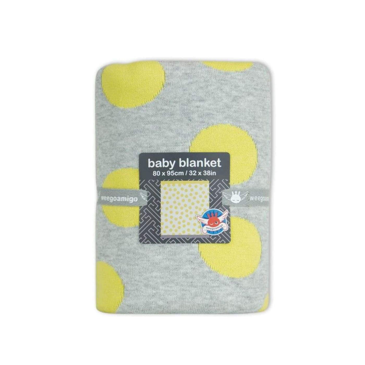 WeeGoAmigo Journee Cotton Knit Blanket - Morgan Yellow - NURSERY & BEDTIME - COT MANCHESTER